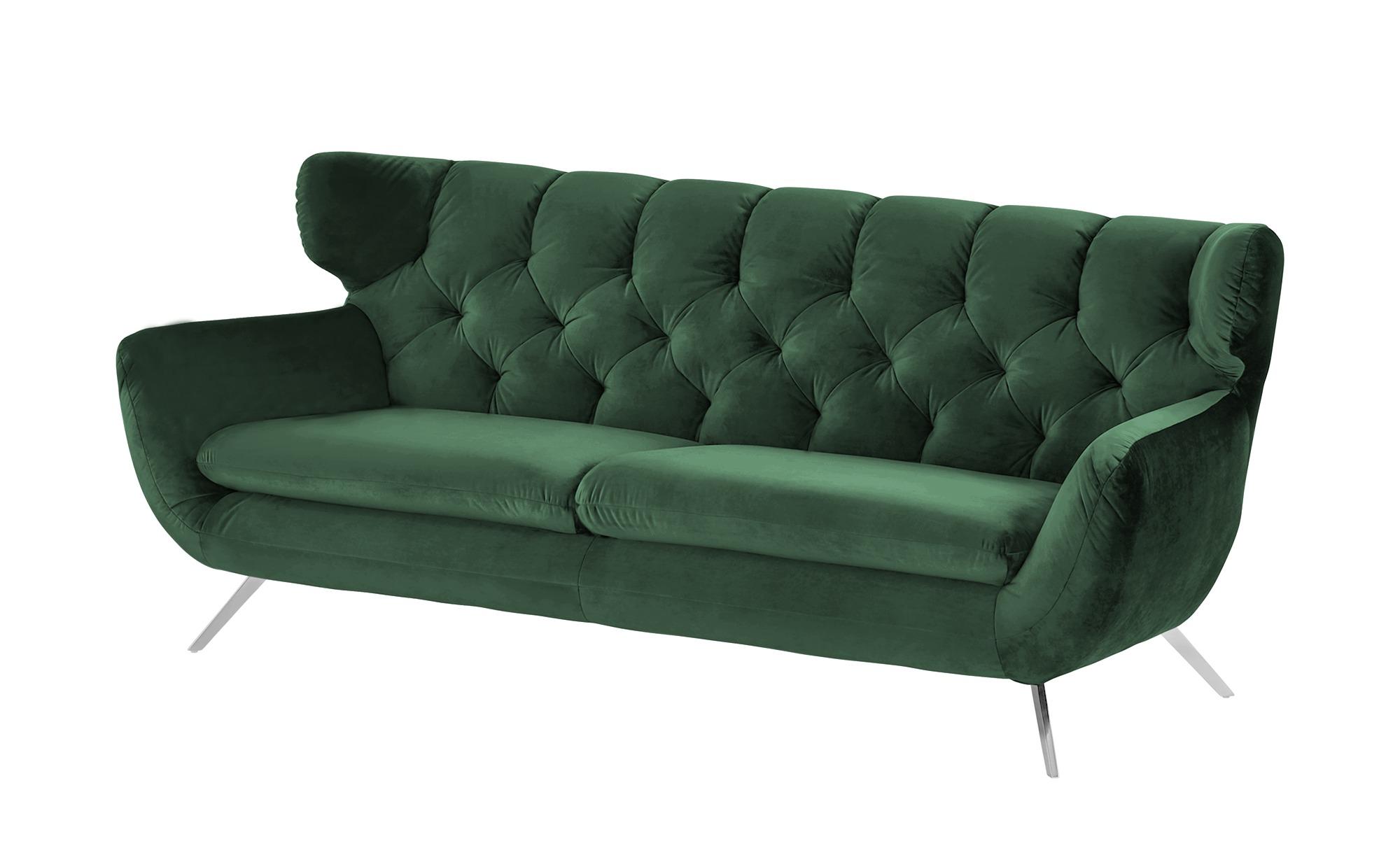 pop Sofa  Caldara ¦ grün ¦ Maße (cm): B: 225 H: 94 T: 95 Polstermöbel > Sofas > 3-Sitzer - Höffner