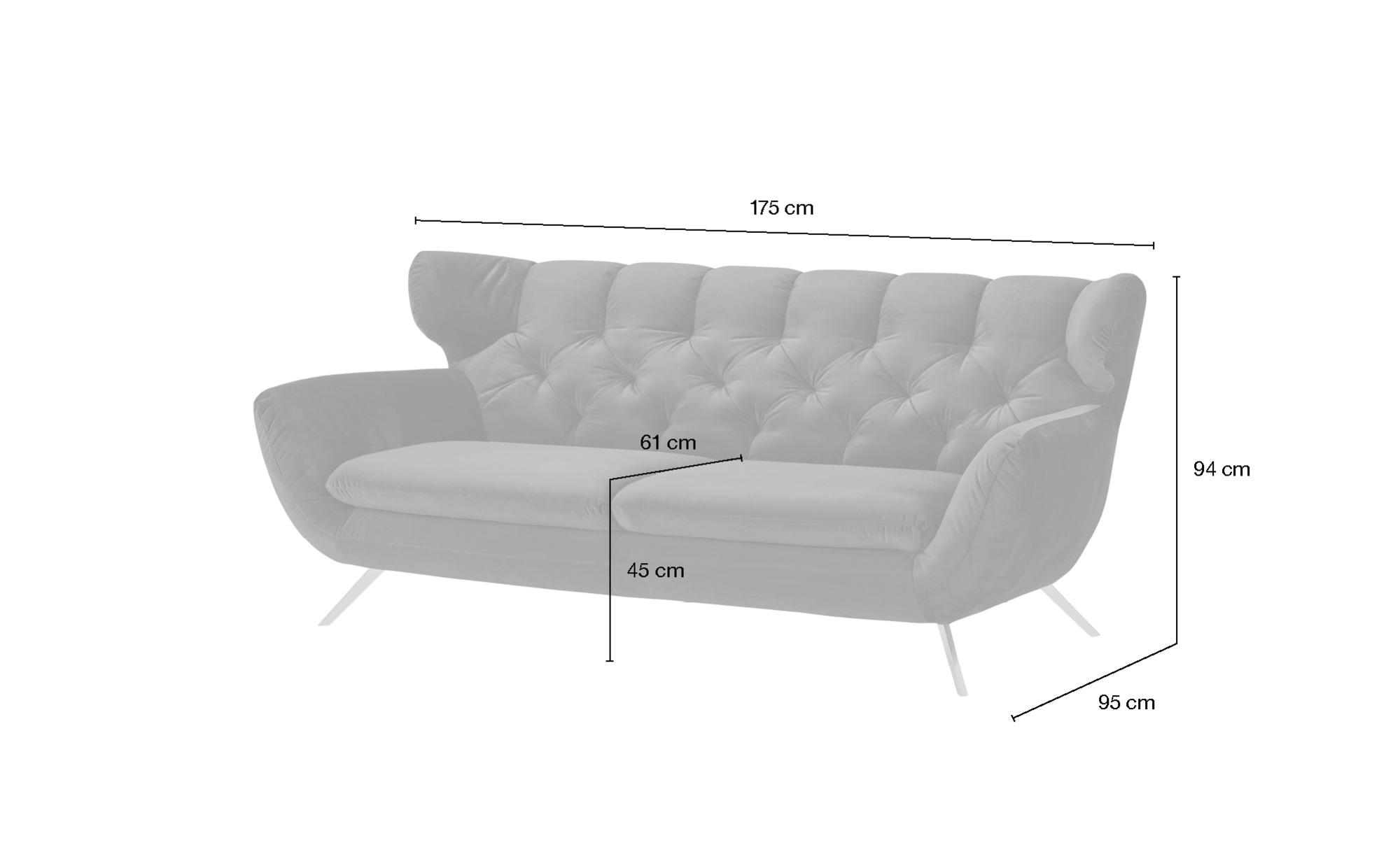 Sofa  Caldara ¦ beige ¦ Maße (cm): B: 175 H: 94 T: 95 Polstermöbel > Sofas > 2-Sitzer - Höffner