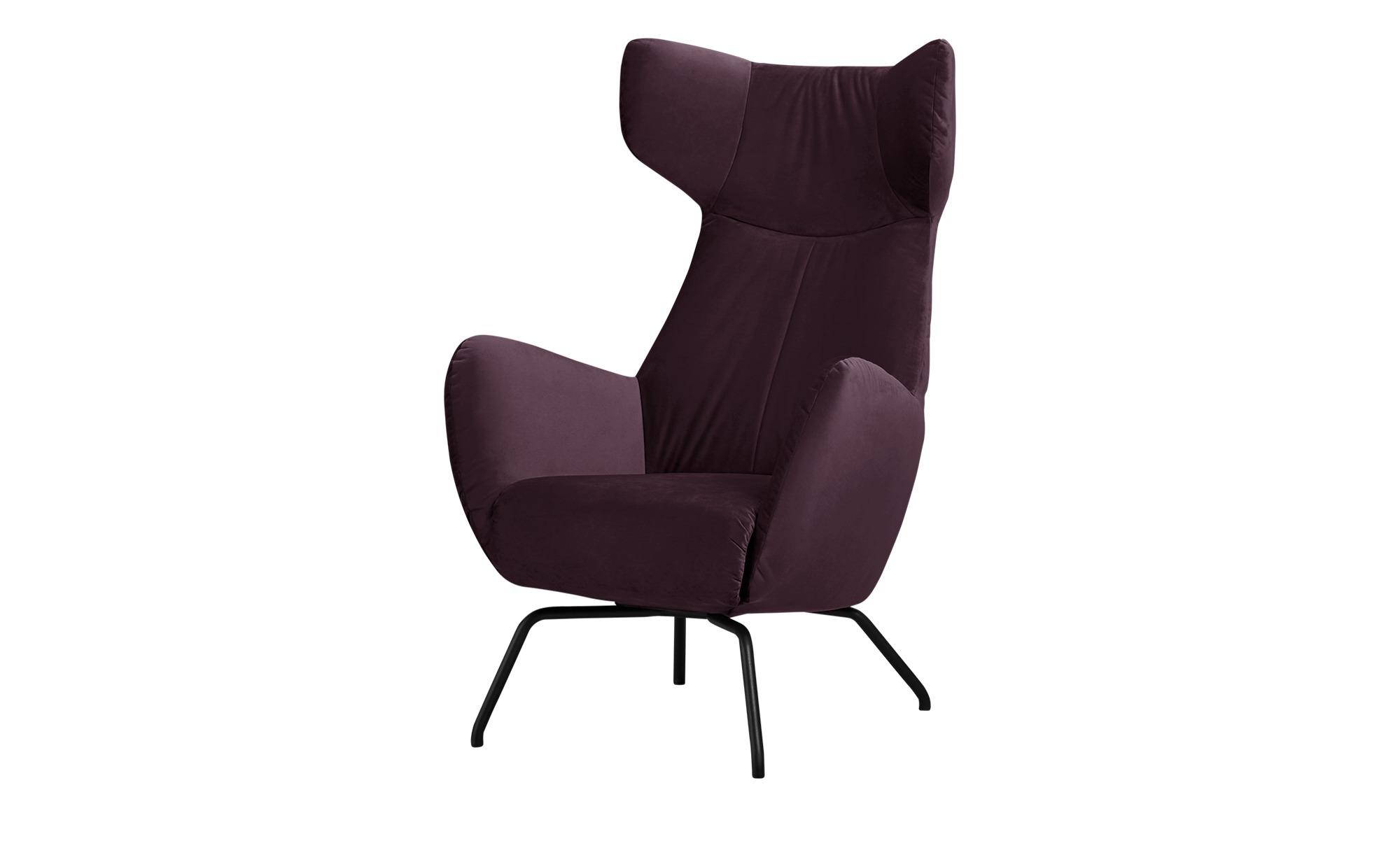 pop Sessel  Corelli ¦ lila/violett ¦ Maße (cm): B: 79 H: 117 T: 82 Polstermöbel > Sessel > Polstersessel - Höffner