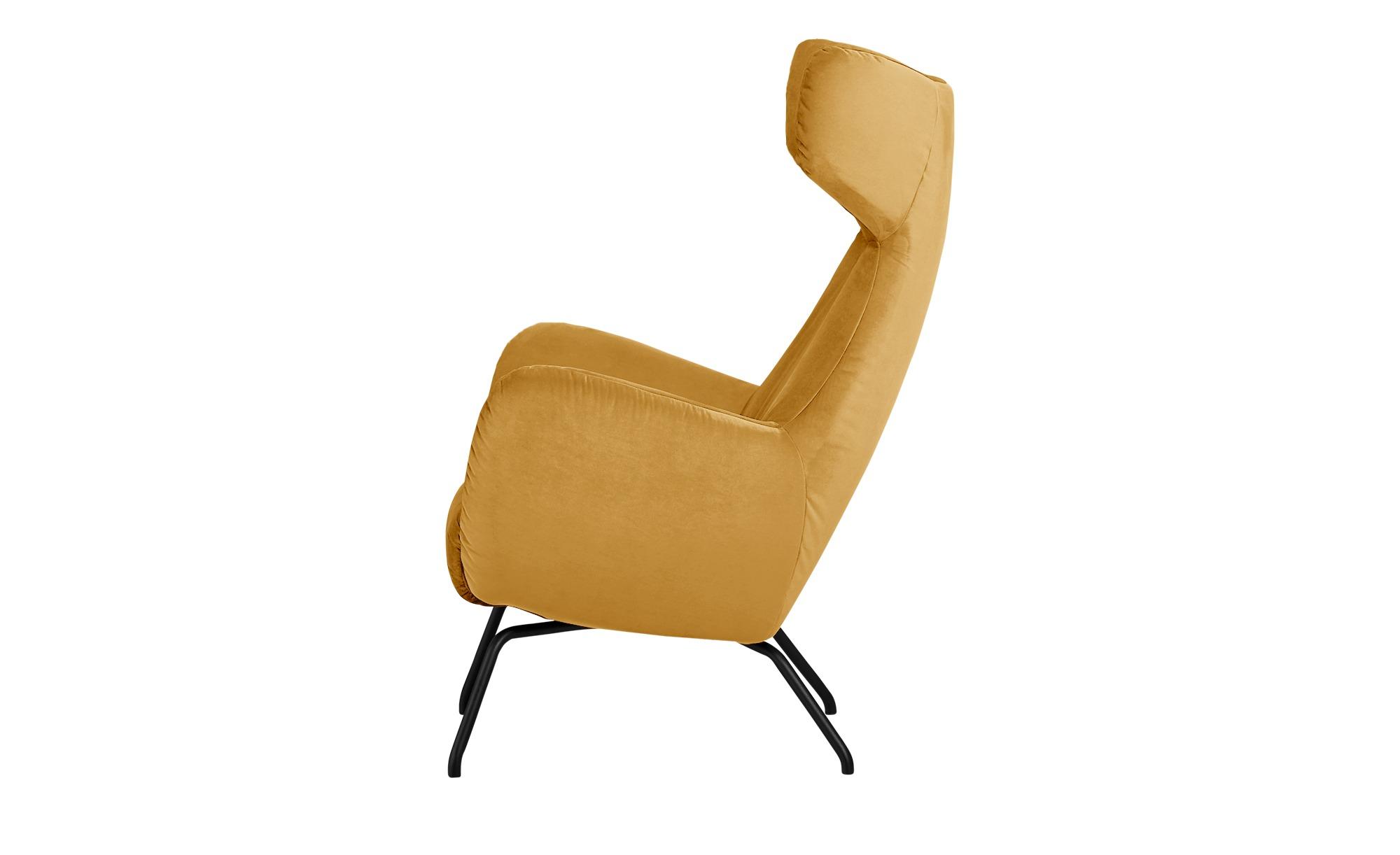 pop Sessel  Corelli ¦ gelb ¦ Maße (cm): B: 79 H: 117 T: 82 Polstermöbel > Sessel > Polstersessel - Höffner