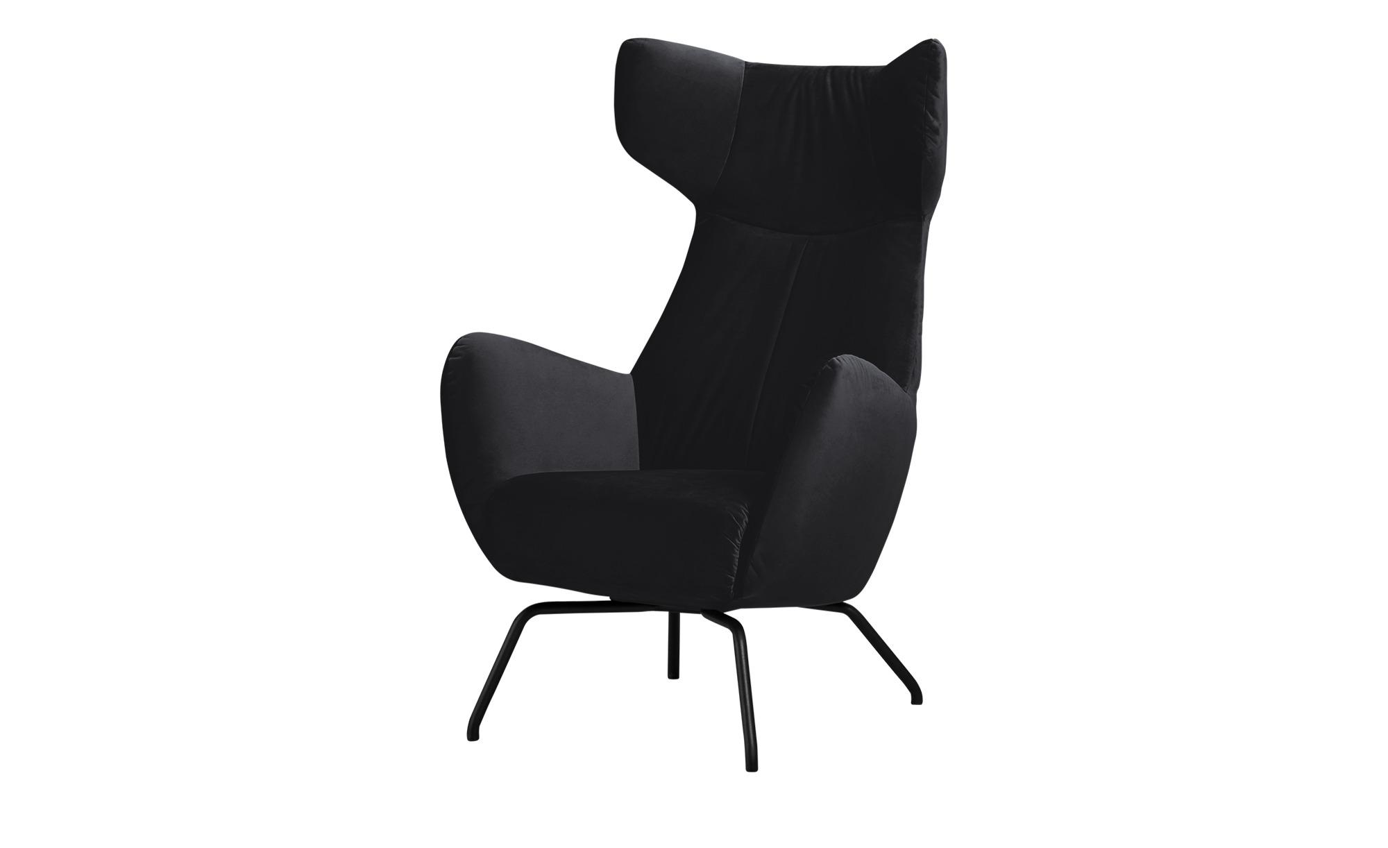 pop Sessel  Corelli ¦ schwarz ¦ Maße (cm): B: 79 H: 117 T: 82 Polstermöbel > Sessel > Polstersessel - Höffner