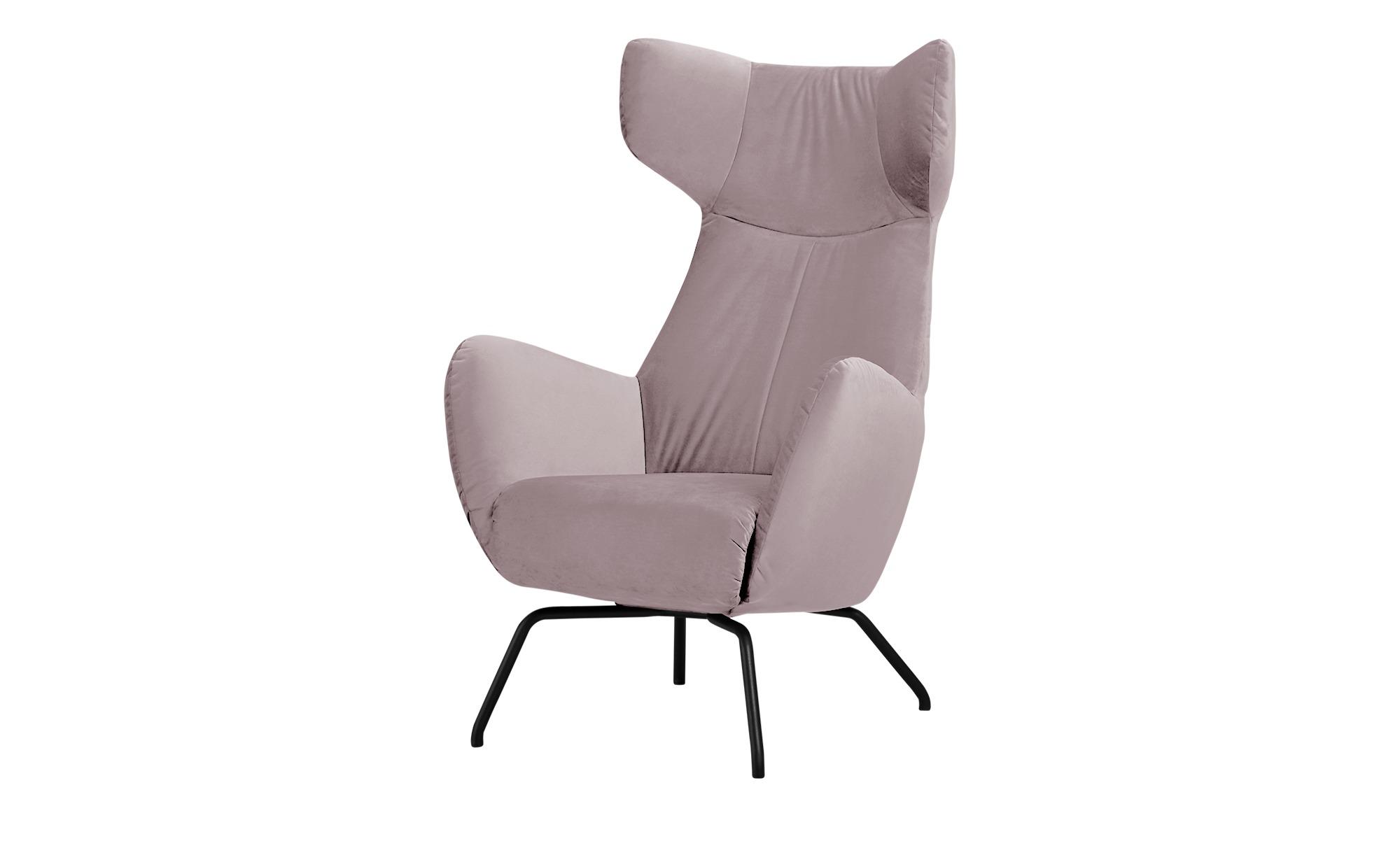 Sessel  Corelli ¦ rosa/pink ¦ Maße (cm): B: 79 H: 117 T: 82 Polstermöbel > Sessel > Polstersessel - Höffner