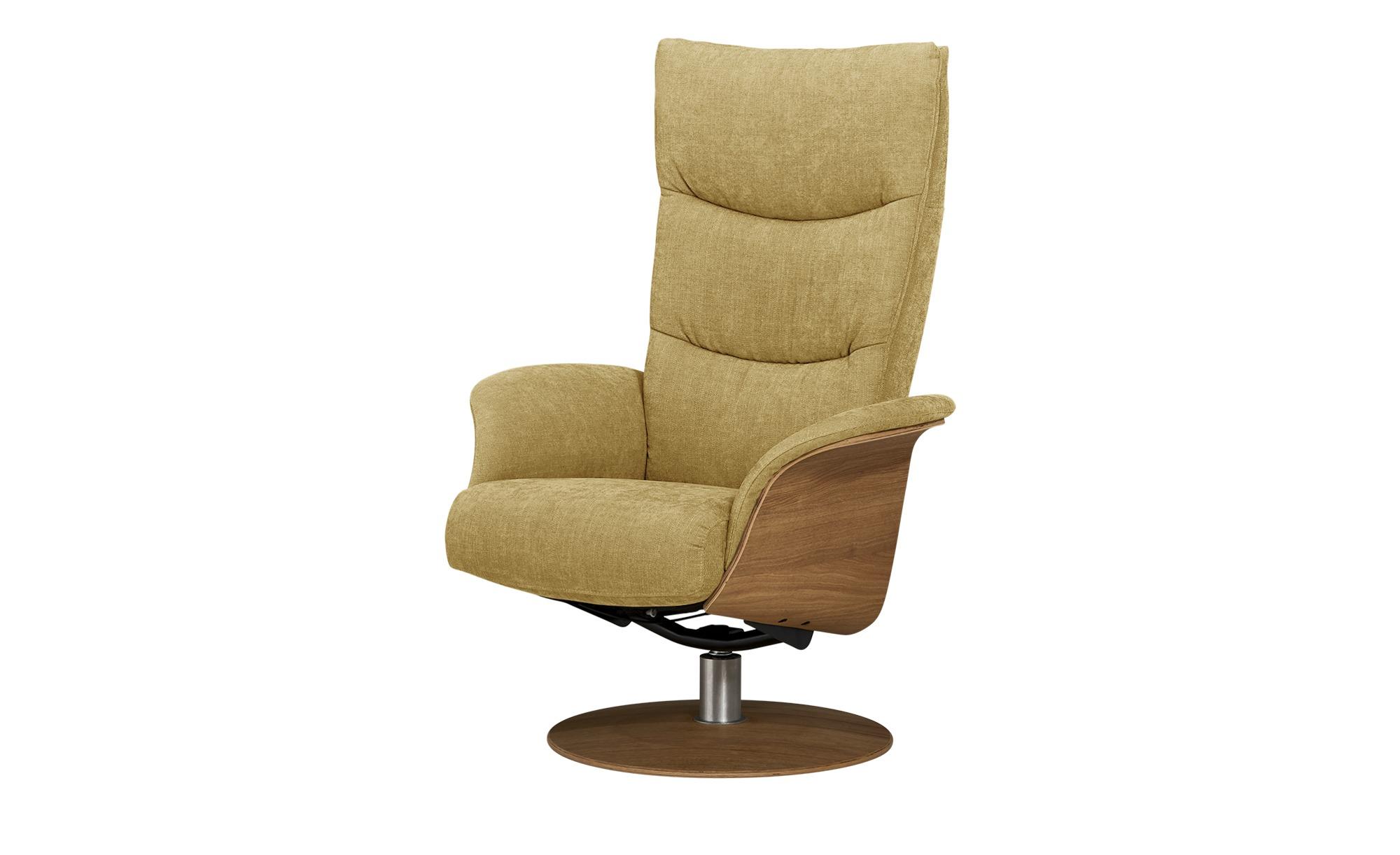Nils Olsen Relaxsessel  Stian ¦ gelb ¦ Maße (cm): B: 77 H: 116 T: 82 Polstermöbel > Sessel > Fernsehsessel - Höffner