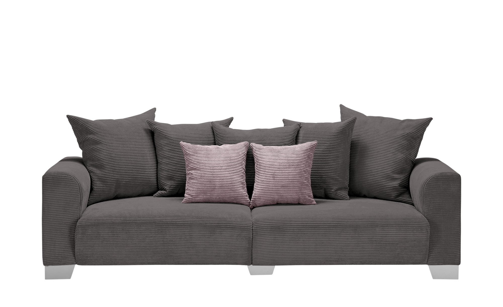 smart Big Sofa  Tonja ¦ grau ¦ Maße (cm): B: 244 H: 68 T: 107 Polstermöbel > Sofas > Big-Sofas - Höffner