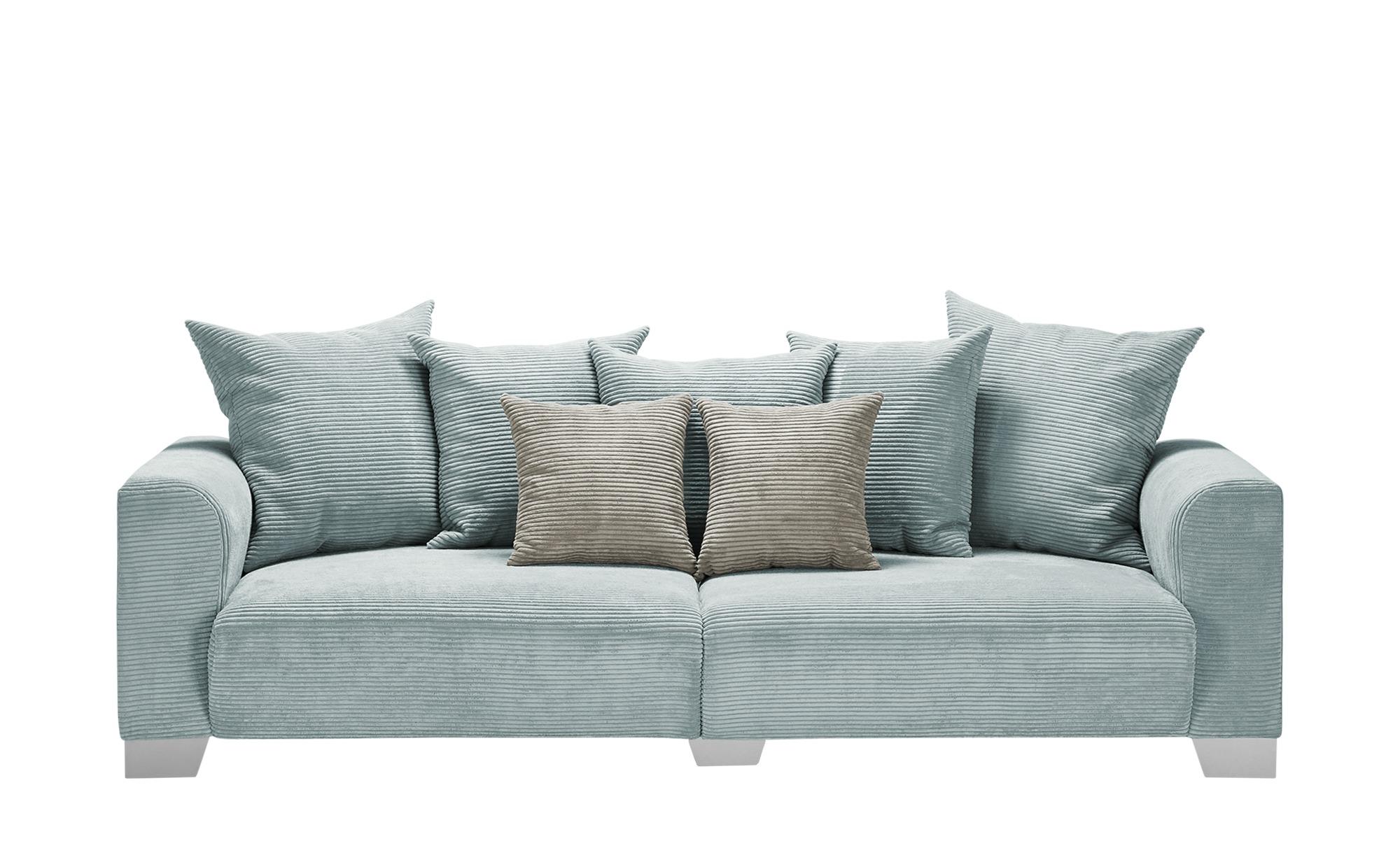 smart Big Sofa  Tonja ¦ grün ¦ Maße (cm): B: 244 H: 68 T: 107 Polstermöbel > Sofas > Big-Sofas - Höffner