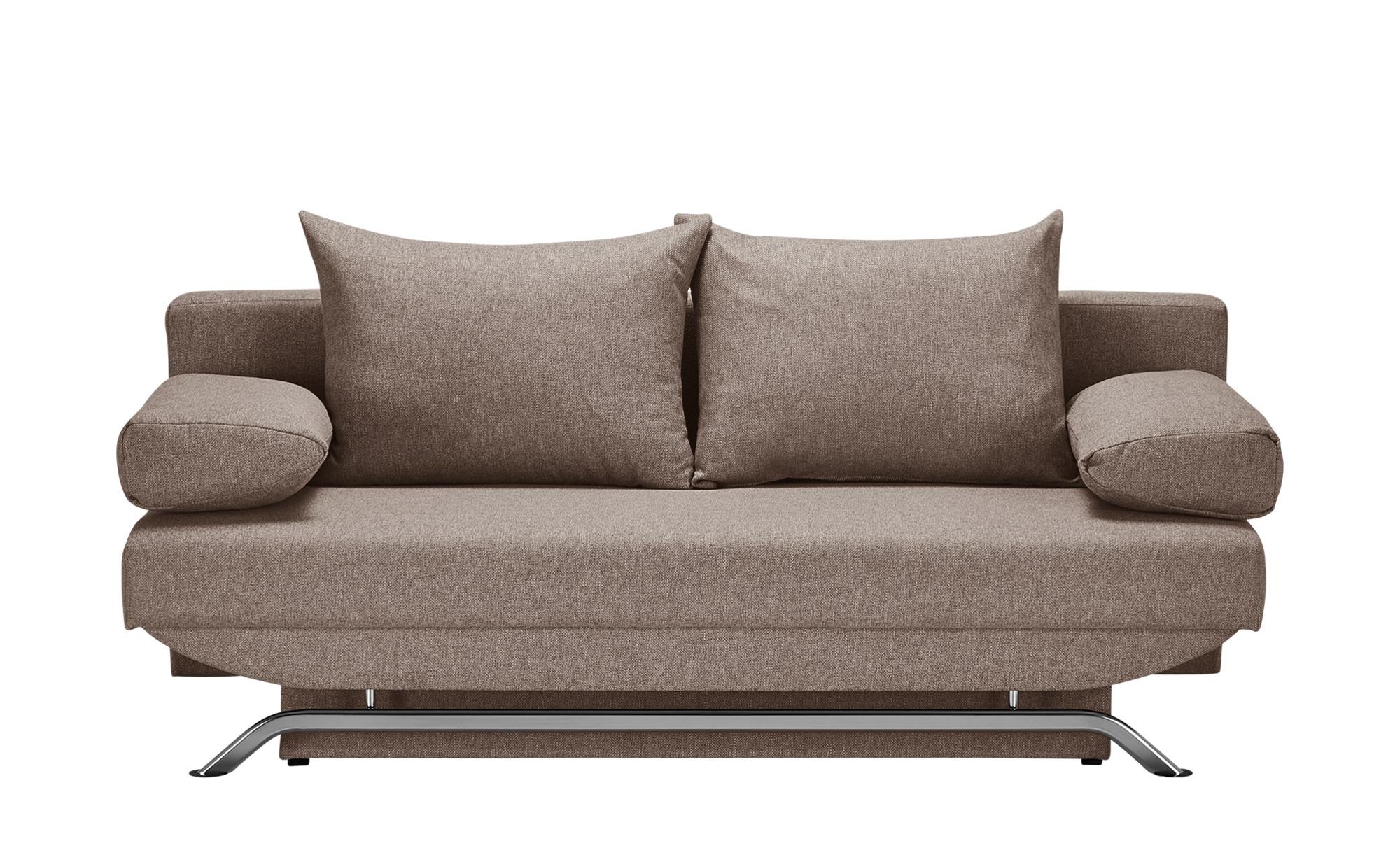 smart Schlafsofa braun - Flachgewebe Grit ¦ braun ¦ Maße (cm): B: 195 H: 76 T: 91 Polstermöbel > Sofas > Einzelsofas - Höffner