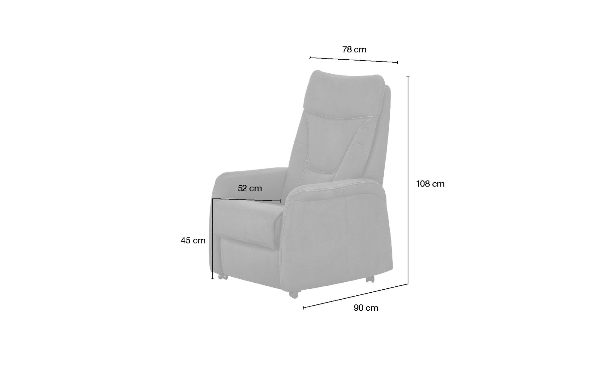 Hukla Fernsehsessel  Manuel ¦ braun ¦ Maße (cm): B: 78 H: 108 T: 90 Polstermöbel > Sessel > Polstersessel - Höffner