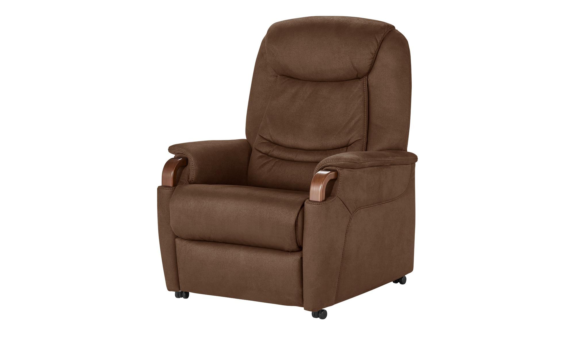 Hukla Relaxsessel  Jonas ¦ braun ¦ Maße (cm): B: 83 H: 106 T: 82 Polstermöbel > Sessel > Fernsehsessel - Höffner