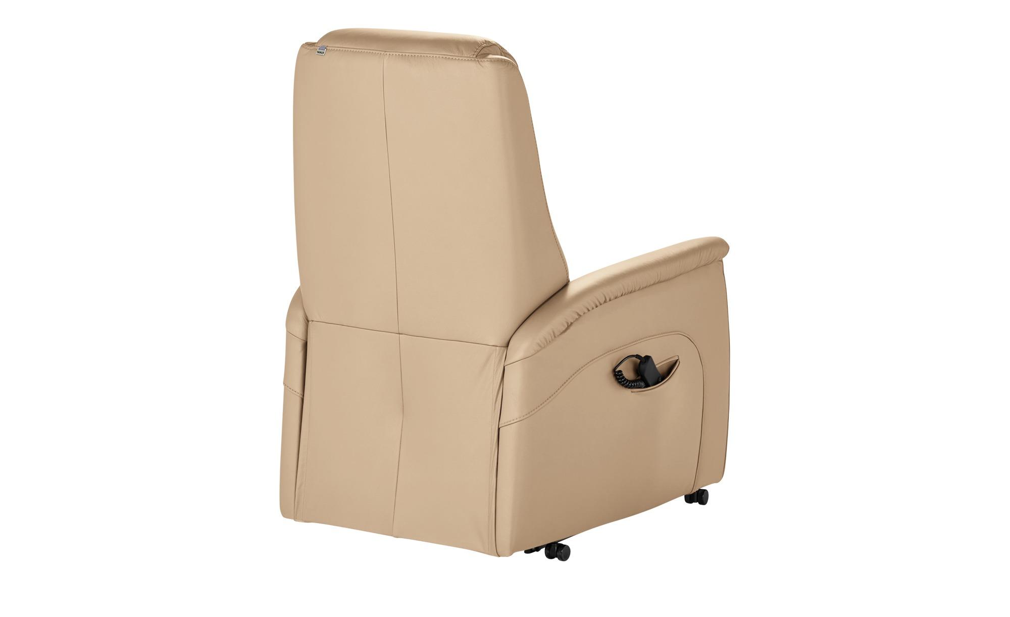Hukla Fernsehsessel  Dean ¦ beige ¦ Maße (cm): B: 70 H: 109 T: 88 Polstermöbel > Sessel > Ledersessel - Höffner