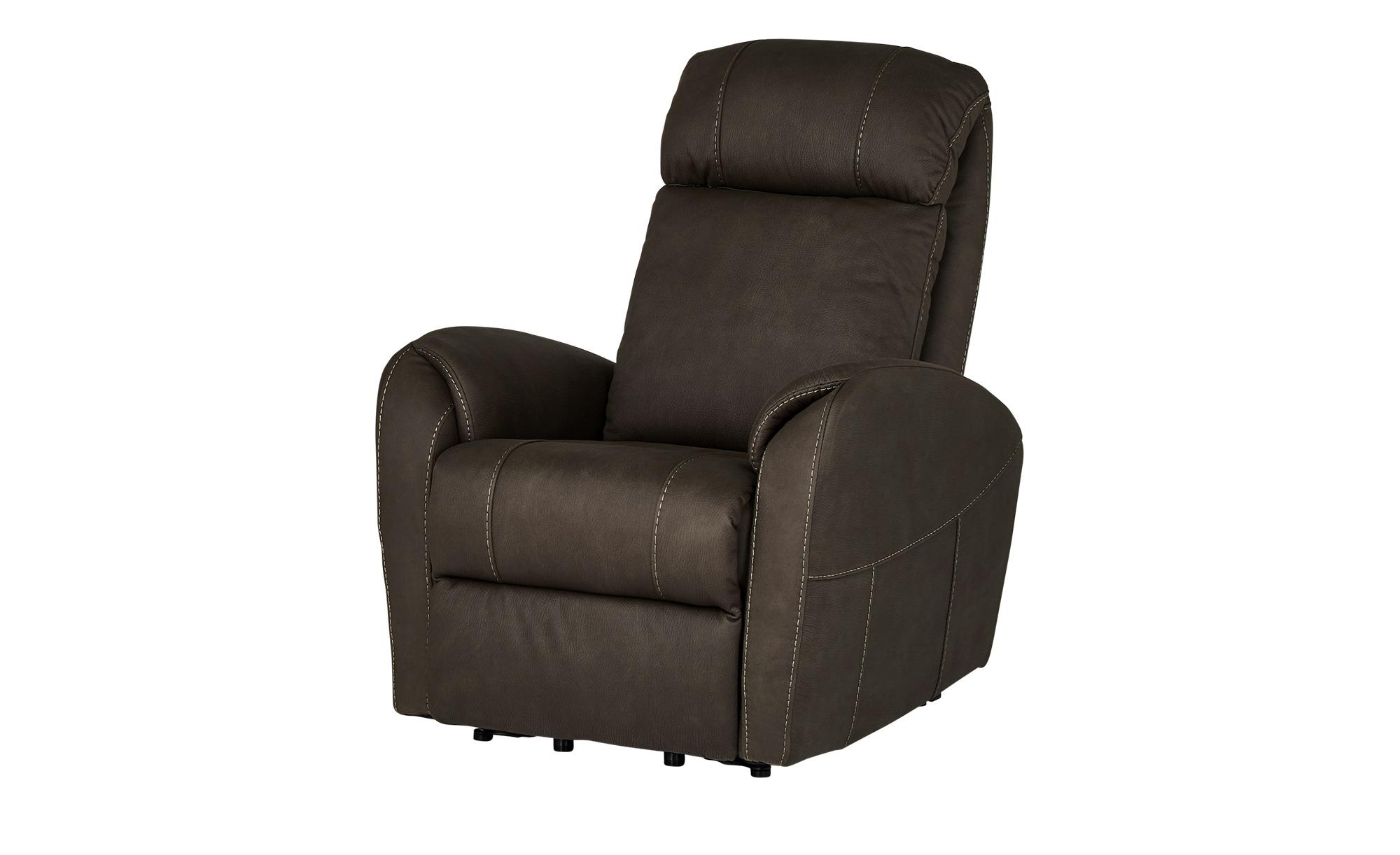 Fernsehsessel  Luis ¦ braun ¦ Maße (cm): B: 79 H: 104 T: 101 Polstermöbel > Sessel > Polstersessel - Höffner