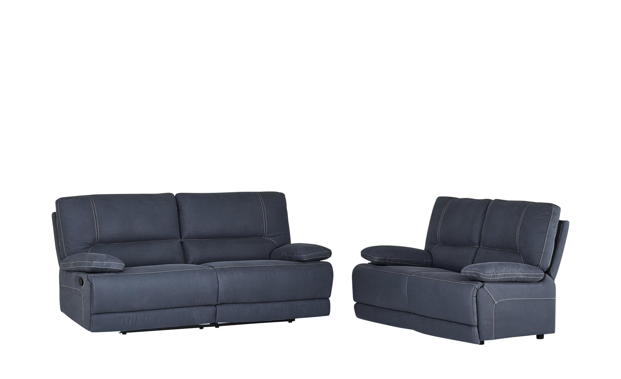uno Sitzgruppe mit Relaxfunktion  Jana ¦ blau Polstermöbel > Sofas > Sitzgruppen - Höffner