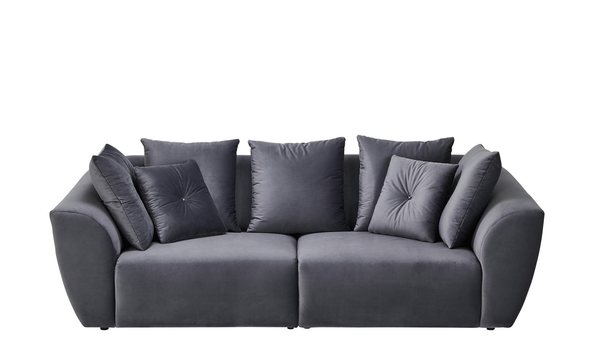 smart Big Sofa  Krista ¦ grau ¦ Maße (cm): B: 254 H: 92 T: 113 Polstermöbel > Sofas > Big-Sofas - Höffner