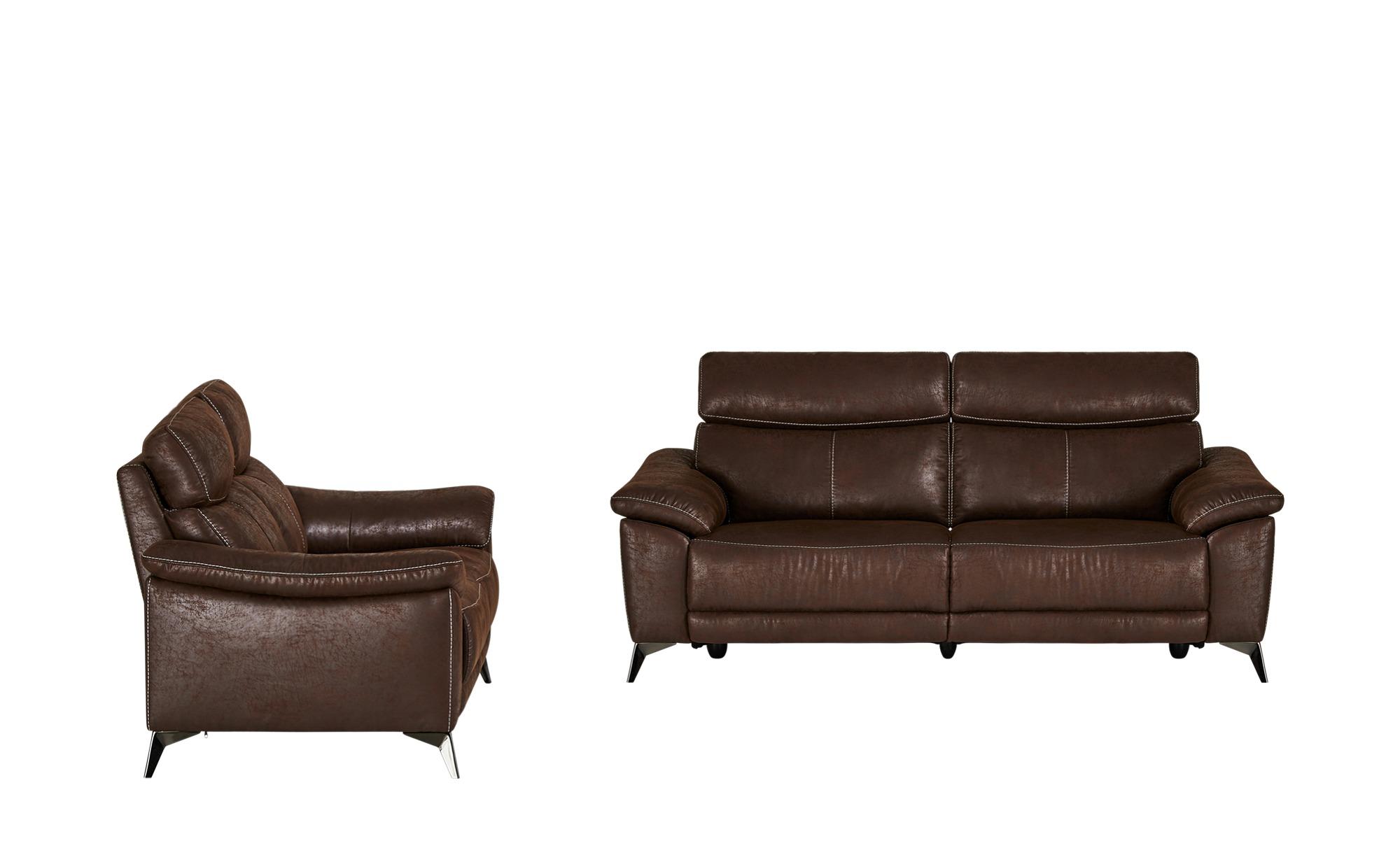 Sitzgruppe  Primo ¦ braun ¦ Maße (cm): H: 97 T: 97 Polstermöbel > Sofas > Sitzgruppen - Höffner