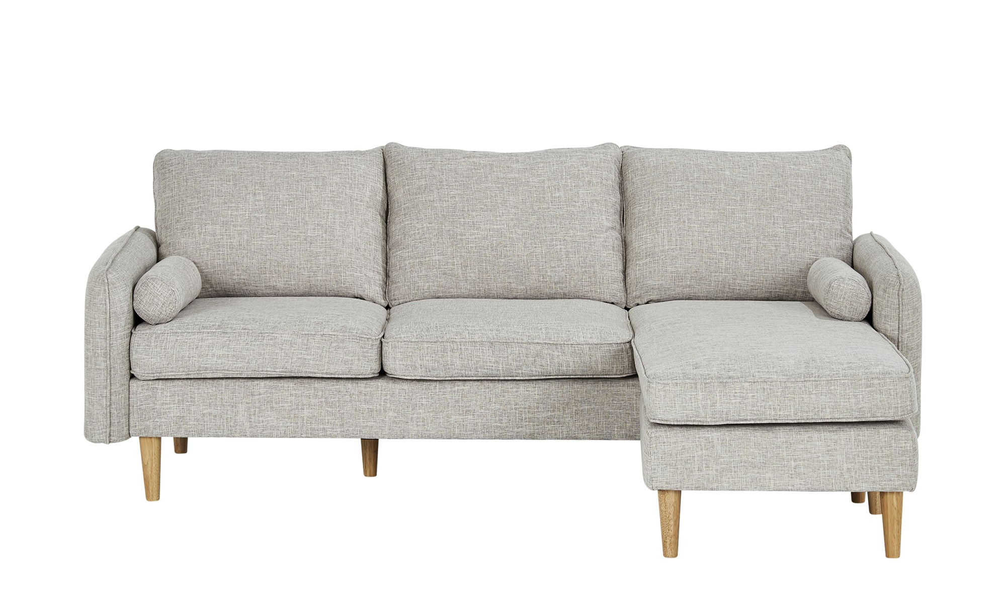 Sofa mit Hocker  Quinn ¦ grau ¦ Maße (cm): B: 210 H: 83 T: 147,5 Polstermöbel > Sofas > Einzelsofas - Höffner