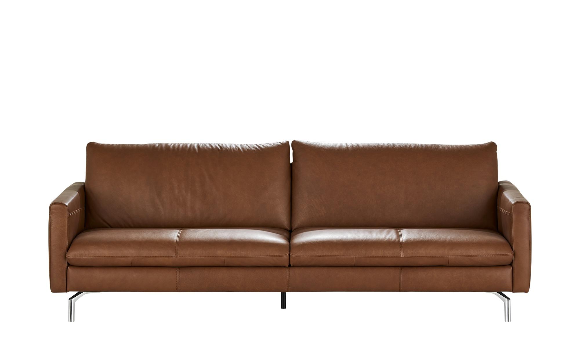 Natuzzi Editions Leder-Sofa  Premura ¦ braun ¦ Maße (cm): B: 239 H: 84 T: 90 Polstermöbel > Sofas > 3-Sitzer - Höffner