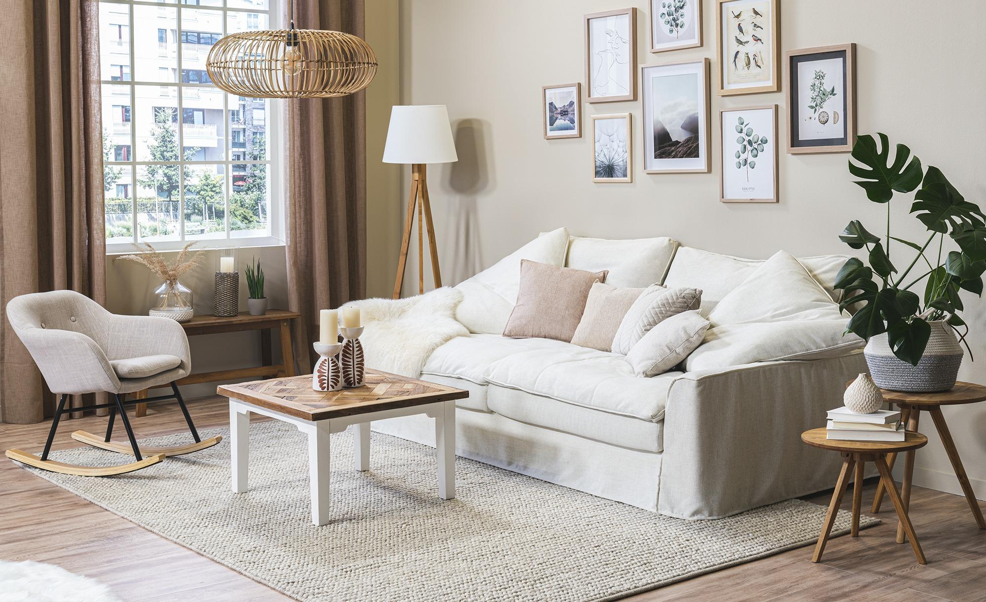 SOHO Sofa 3-sitzig  Sarvika ¦ weiß ¦ Maße (cm): B: 233 H: 95 T: 114 Polstermöbel > Sofas > 3-Sitzer - Höffner
