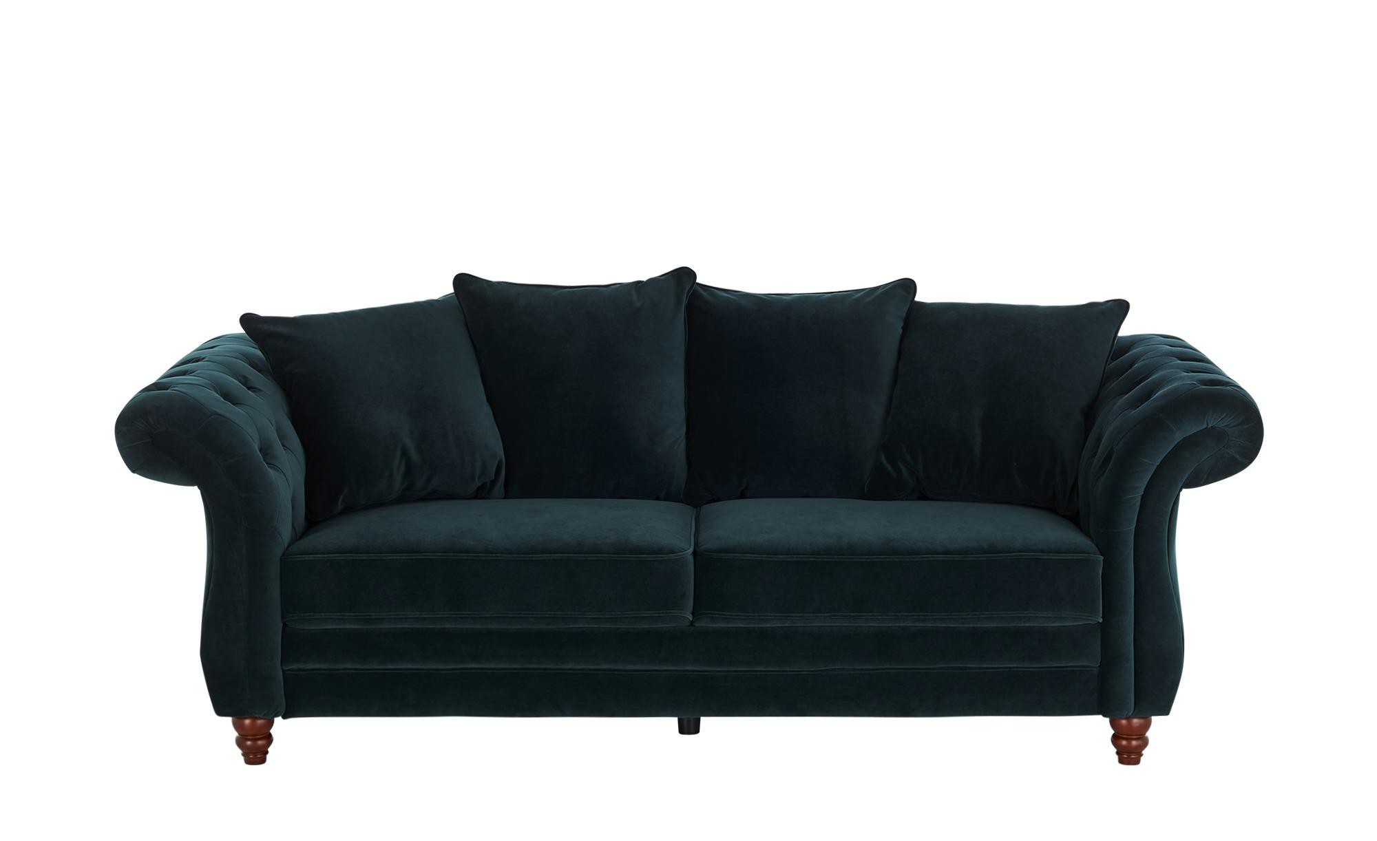 uno Sofa 3-sitzig  Chesterfield Sofa Luna ¦ grün ¦ Maße (cm): B: 226 H: 88 T: 95 Polstermöbel > Sofas > 3-Sitzer - Höffner