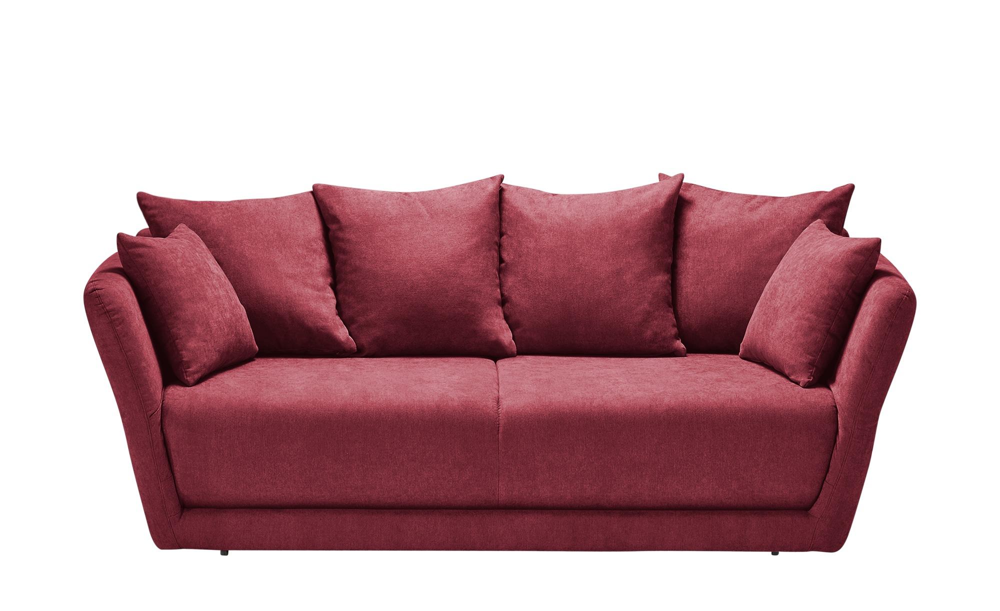 Schlafsofa  Vevi ¦ rot ¦ Maße (cm): B: 210 H: 83 T: 98 Polstermöbel > Sofas > Einzelsofas - Höffner