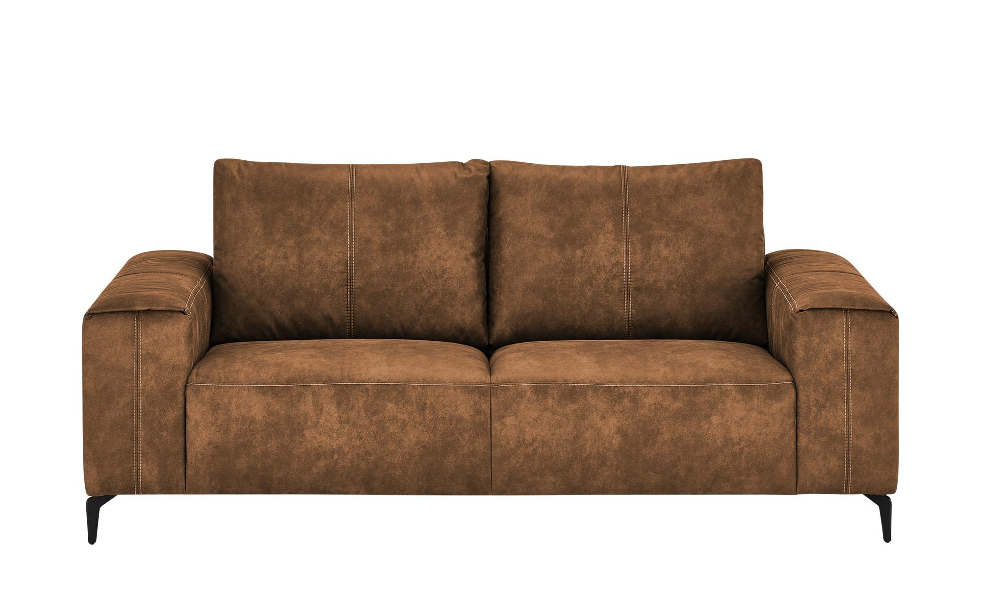 smart Sofa  Gabriela ¦ braun ¦ Maße (cm): B: 202 H: 90 T: 91 Polstermöbel > Sofas > 2-Sitzer - Höffner