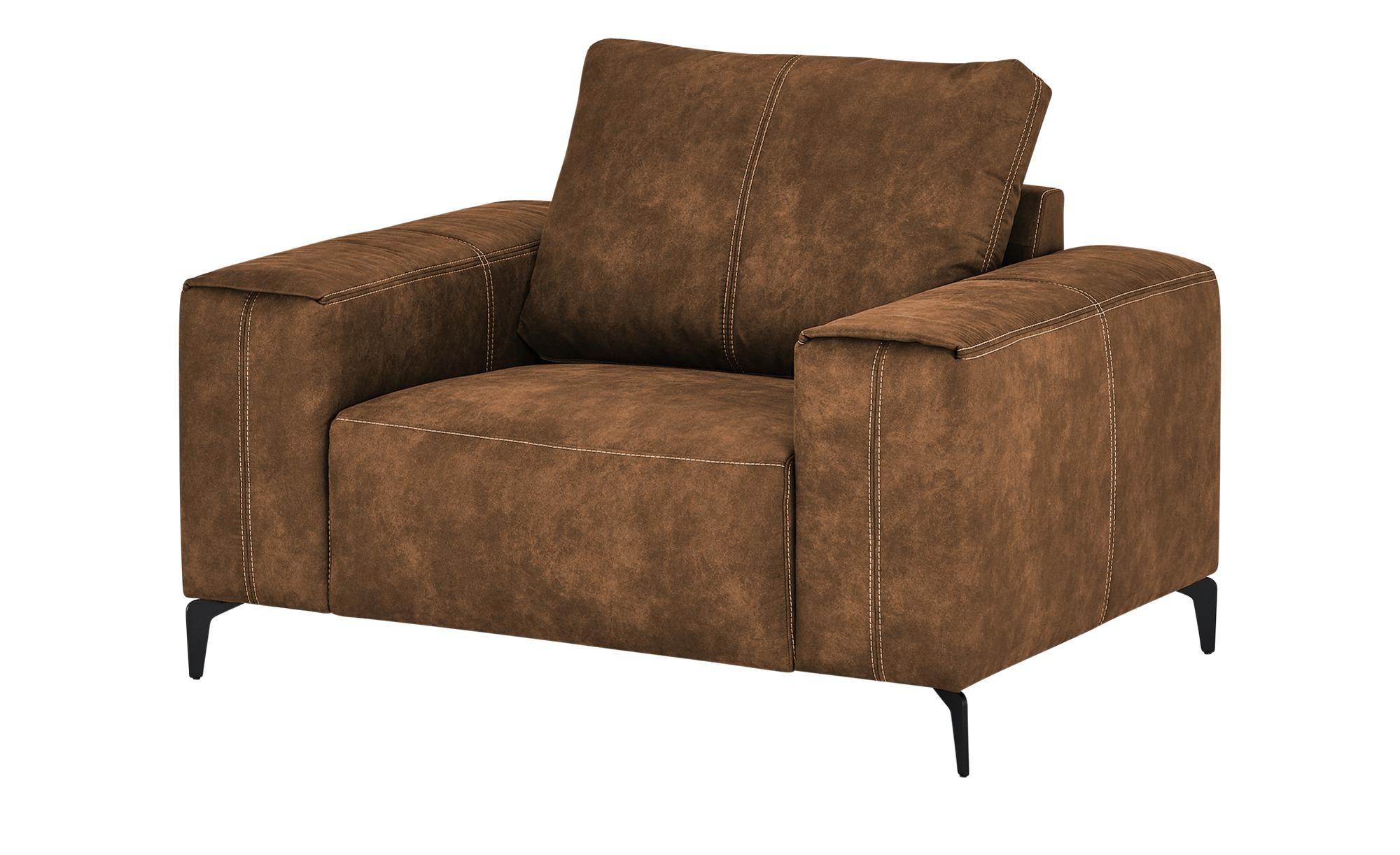 smart Sessel  Gabriela ¦ braun ¦ Maße (cm): B: 127 H: 90 T: 91 Polstermöbel > Sessel > Polstersessel - Höffner