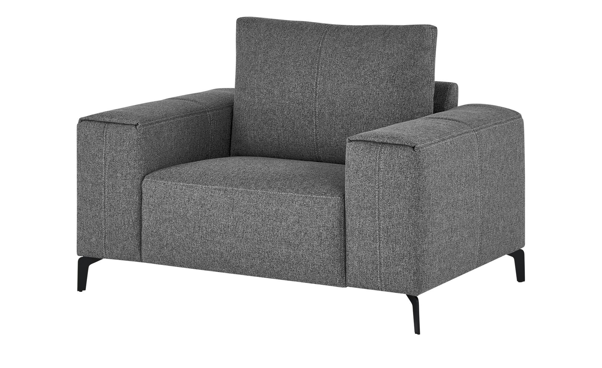 smart Sessel  Gabriela ¦ grau ¦ Maße (cm): B: 127 H: 90 T: 91 Polstermöbel > Sessel > Polstersessel - Höffner