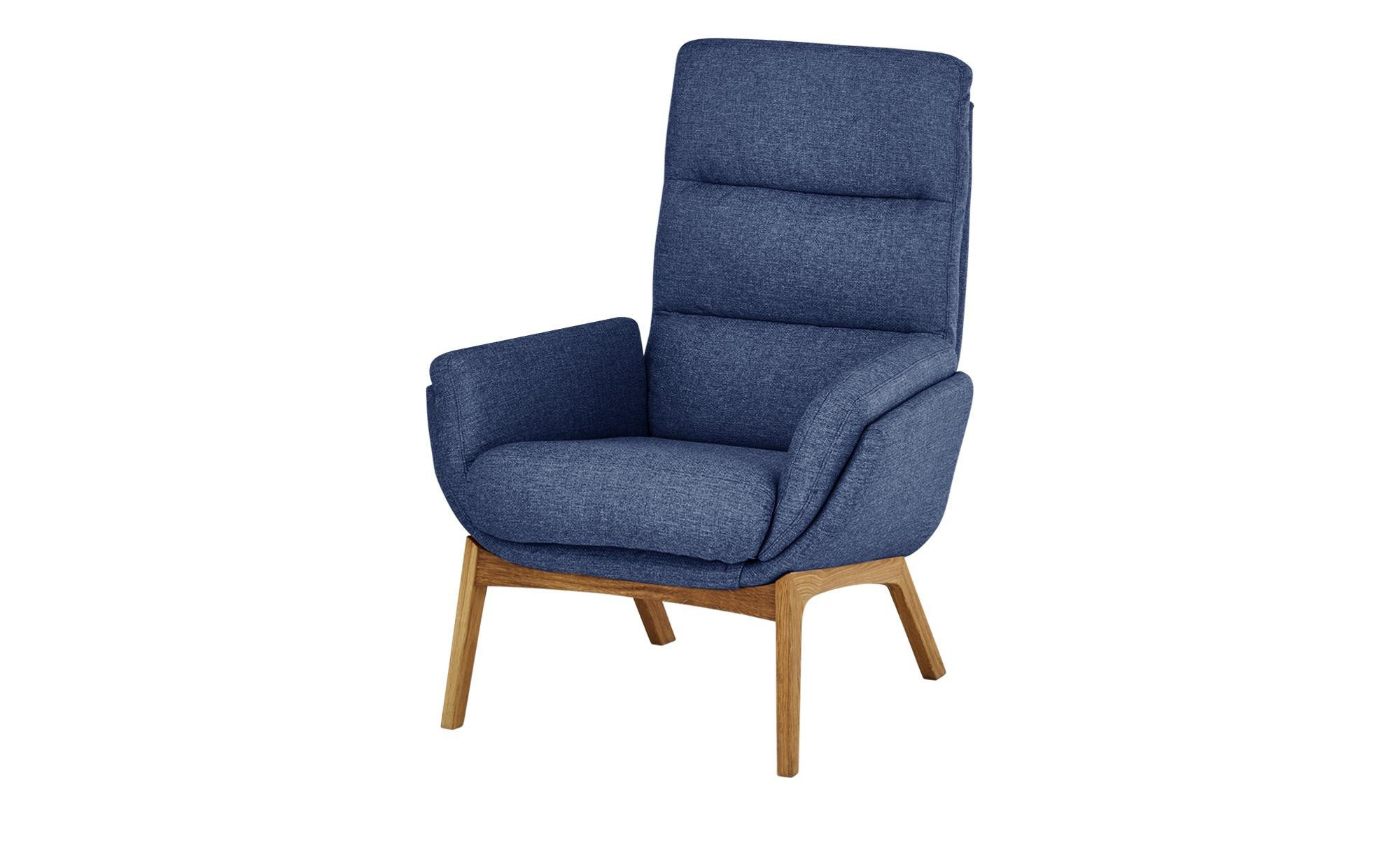 Nils Olsen Sessel  Torgen ¦ blau ¦ Maße (cm): B: 82 H: 104 T: 90 Polstermöbel > Sessel > Polstersessel - Höffner