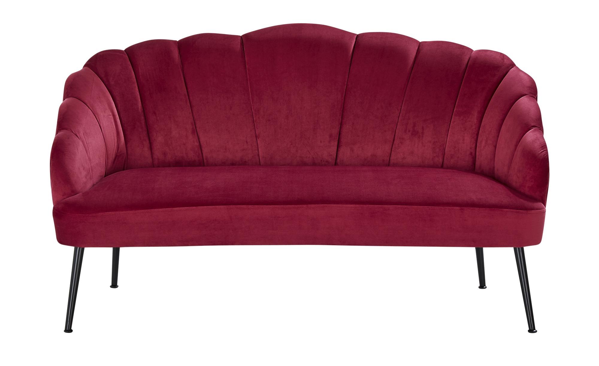 Sofa, 2-Sitzer  Hera ¦ rot ¦ Maße (cm): B: 138 H: 78 T: 71 Polstermöbel > Sofas > 2-Sitzer - Höffner