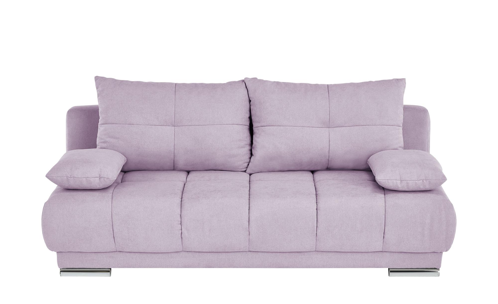 bobb Schlafsofa  Isalie de Luxe ¦ rosa/pink ¦ Maße (cm): B: 206 H: 92 T: 105 Polstermöbel > Sofas > Einzelsofas - Höffner