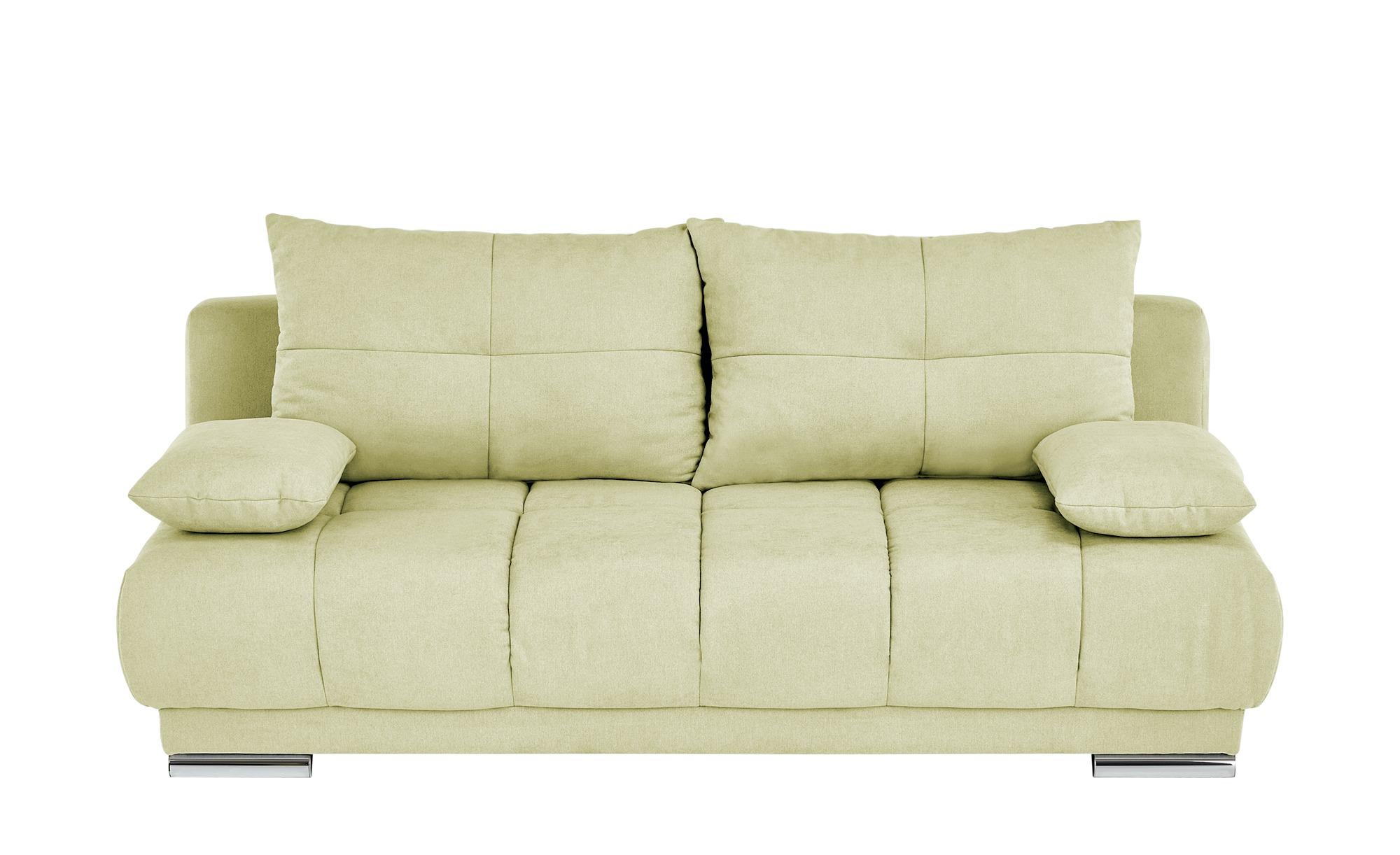 bobb Schlafsofa  Isalie de Luxe ¦ gelb ¦ Maße (cm): B: 206 H: 92 T: 105 Polstermöbel > Sofas > Einzelsofas - Höffner