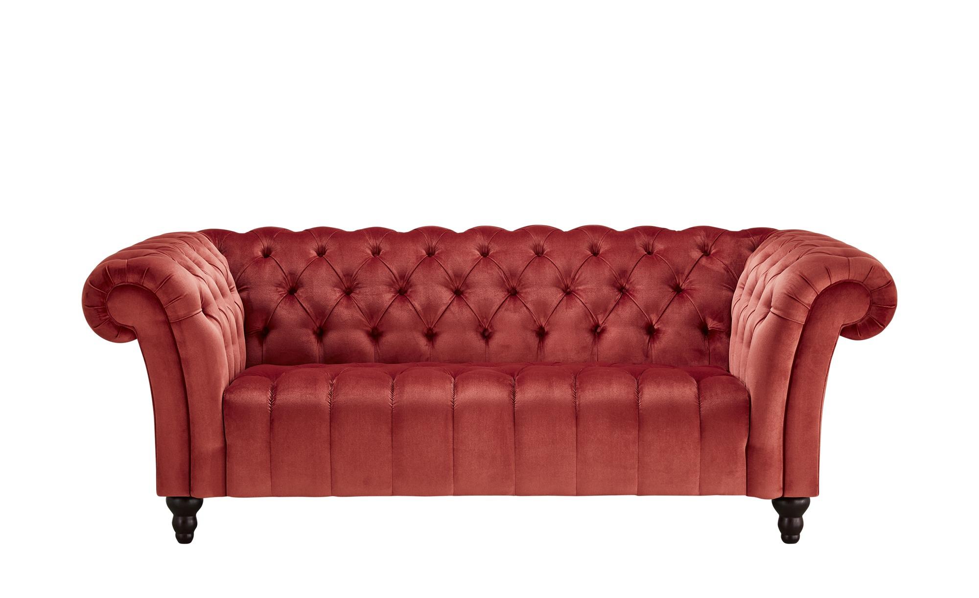 Sofa, 2-sitzig  Canyon ¦ rot ¦ Maße (cm): B: 205 H: 74 T: 101 Polstermöbel > Sofas > 2-Sitzer - Höffner
