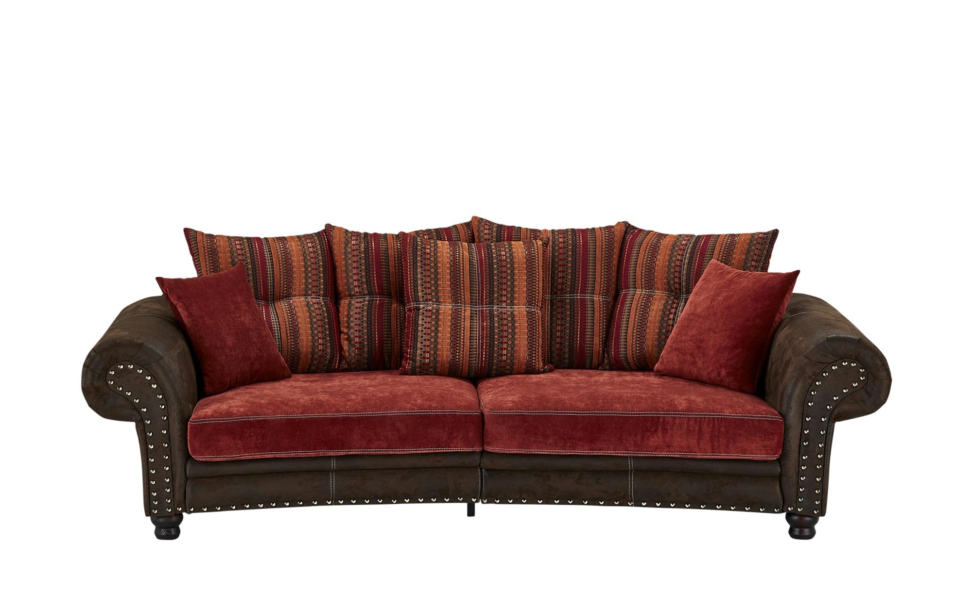 Megasofa  Bristol ¦ rot ¦ Maße (cm): B: 276 H: 81 T: 140 Polstermöbel > Sofas > Einzelsofas - Höffner