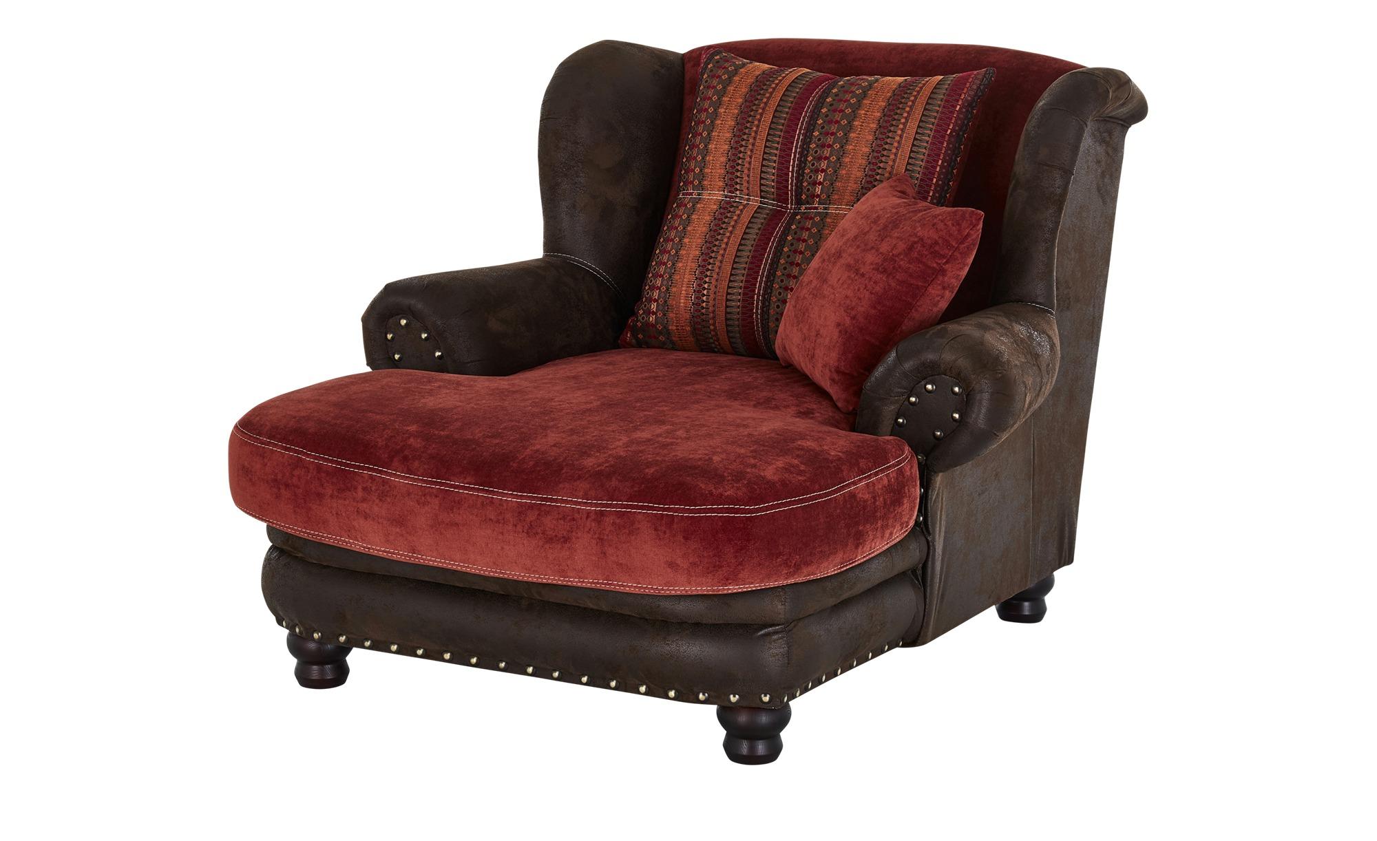 Mega Ohrensessel  Bristol ¦ rot ¦ Maße (cm): B: 125 H: 100 T: 140 Polstermöbel > Sessel > Ohrensessel - Höffner