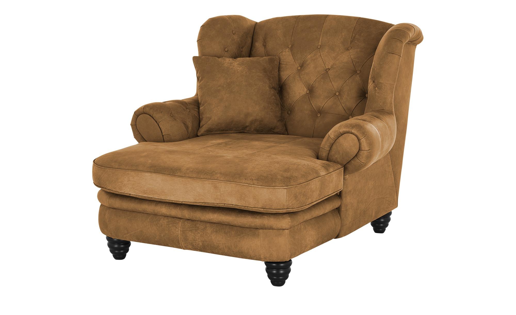 Ledersessel  Wales ¦ braun ¦ Maße (cm): B: 125 H: 104 T: 142 Polstermöbel > Sessel > Ohrensessel - Höffner