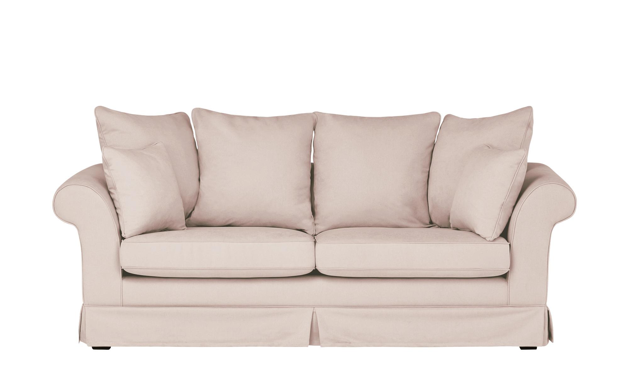 Hussensofa, 3-sitzig  Hampton ¦ rosa/pink ¦ Maße (cm): B: 214 H: 70 T: 92 Polstermöbel > Sofas > 3-Sitzer - Höffner