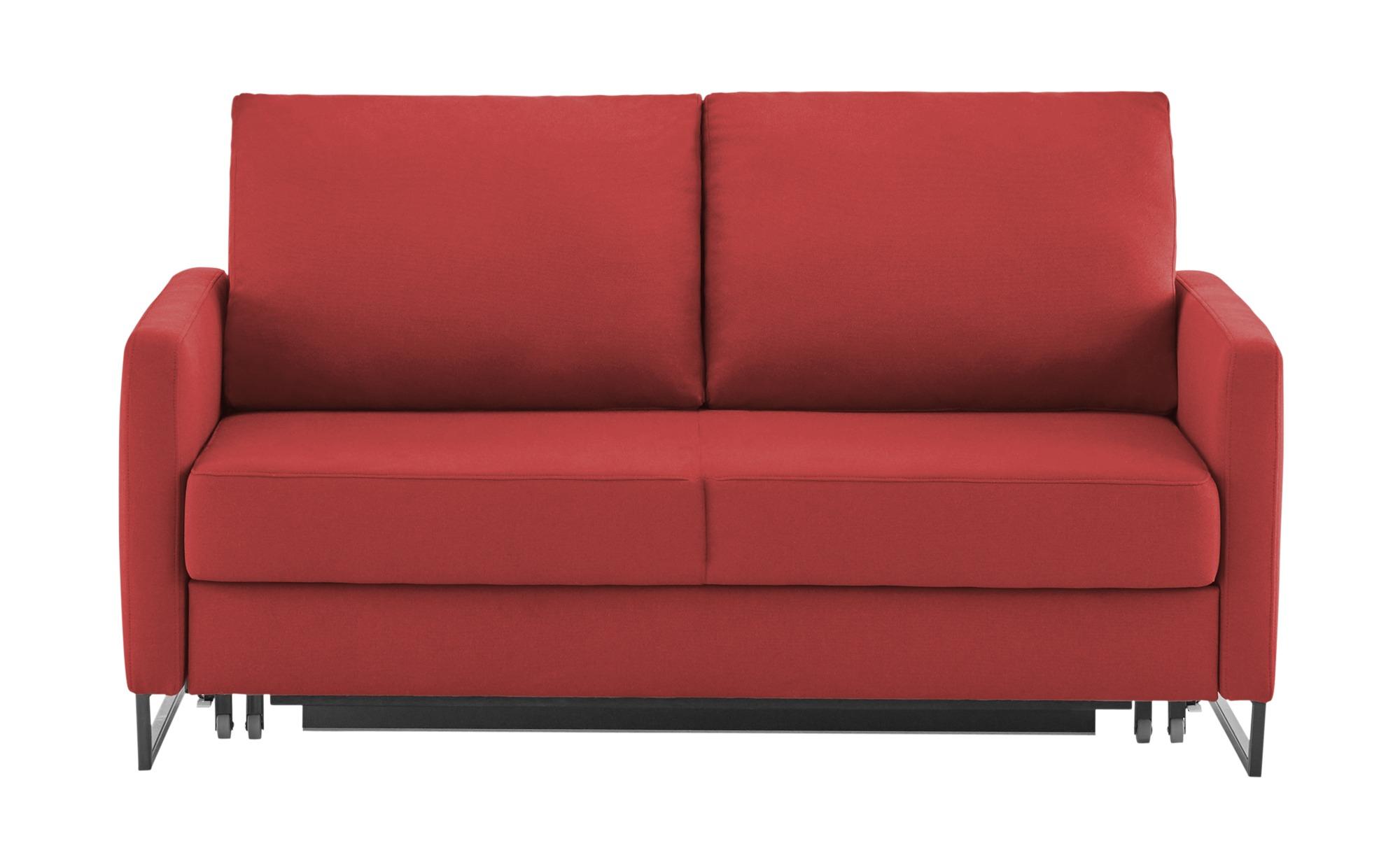 Schlafsofa  Fürth ¦ rot ¦ Maße (cm): B: 160 H: 90 T: 95 Polstermöbel > Sofas > 2-Sitzer - Höffner
