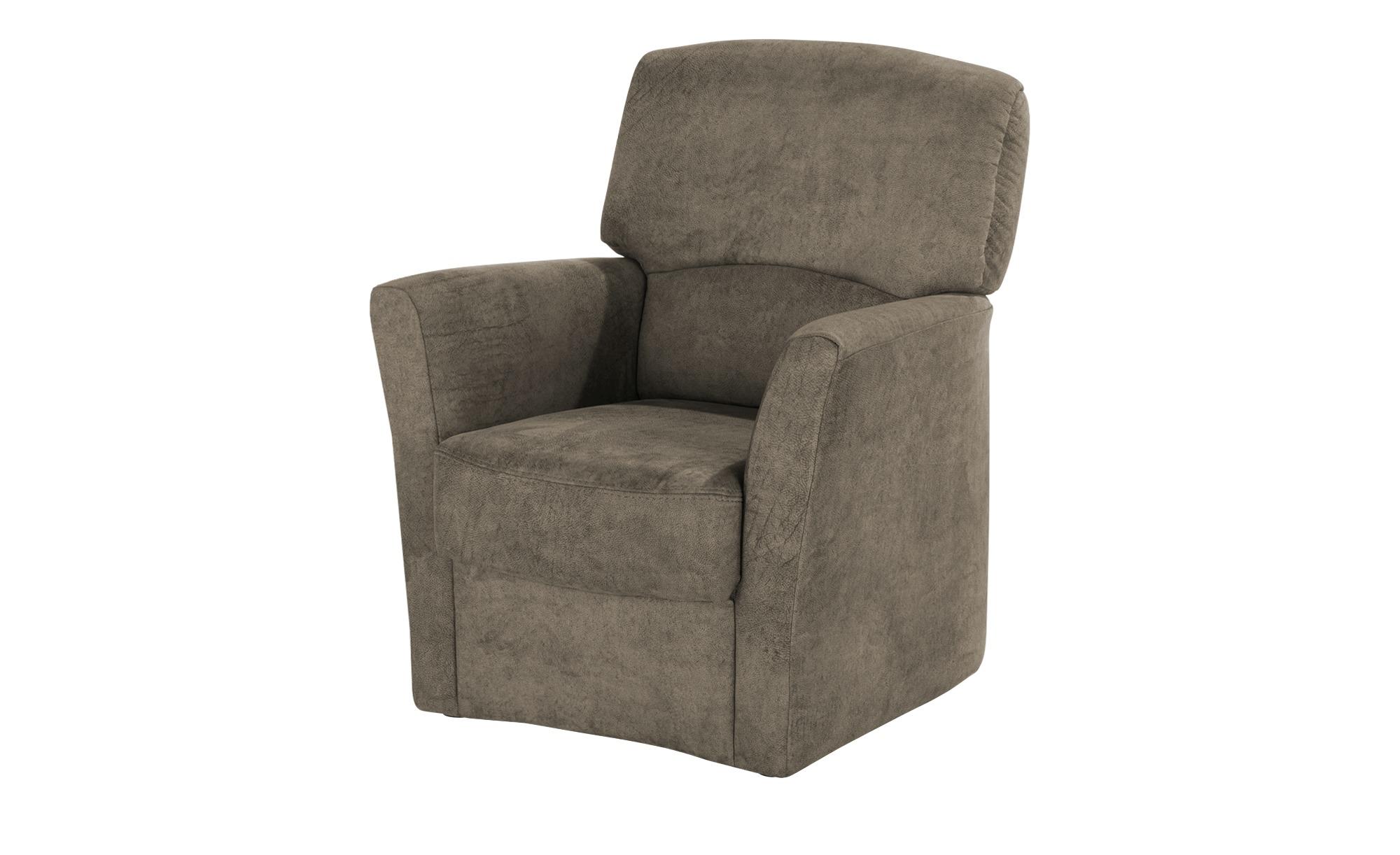 Polstermöbel Oelsa Sessel  Toga ¦ braun ¦ Maße (cm): B: 75 H: 92 T: 80 Polstermöbel > Sessel > Polstersessel - Höffner