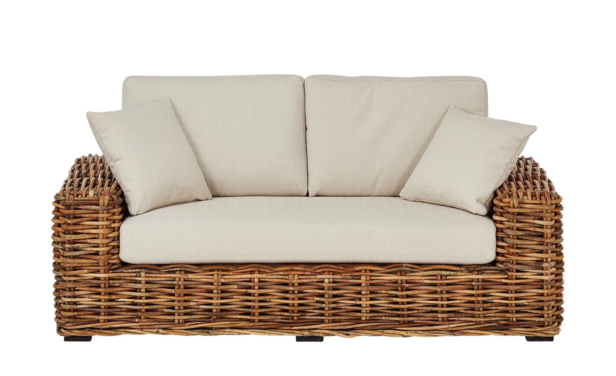 2-Sitzer-Rattan-Sofa