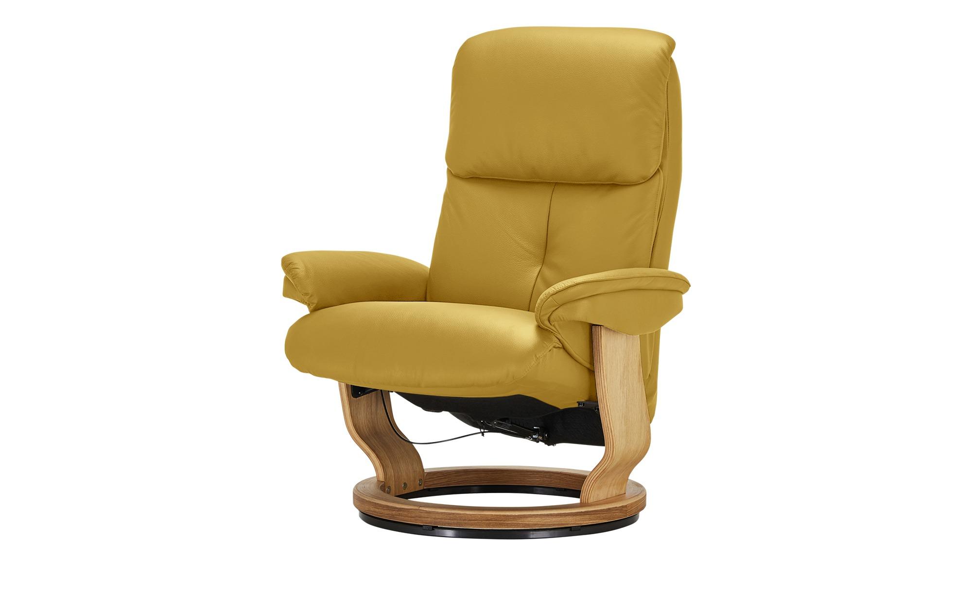 Relaxsessel  Farso ¦ gelb ¦ Maße (cm): B: 85 H: 114 T: 92 Polstermöbel > Sessel > Ledersessel - Höffner