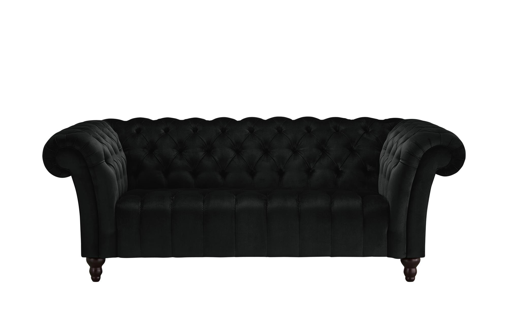 Sofa, 2-sitzig  Canyon ¦ schwarz ¦ Maße (cm): B: 205 H: 74 T: 101 Polstermöbel > Sofas > 2-Sitzer - Höffner