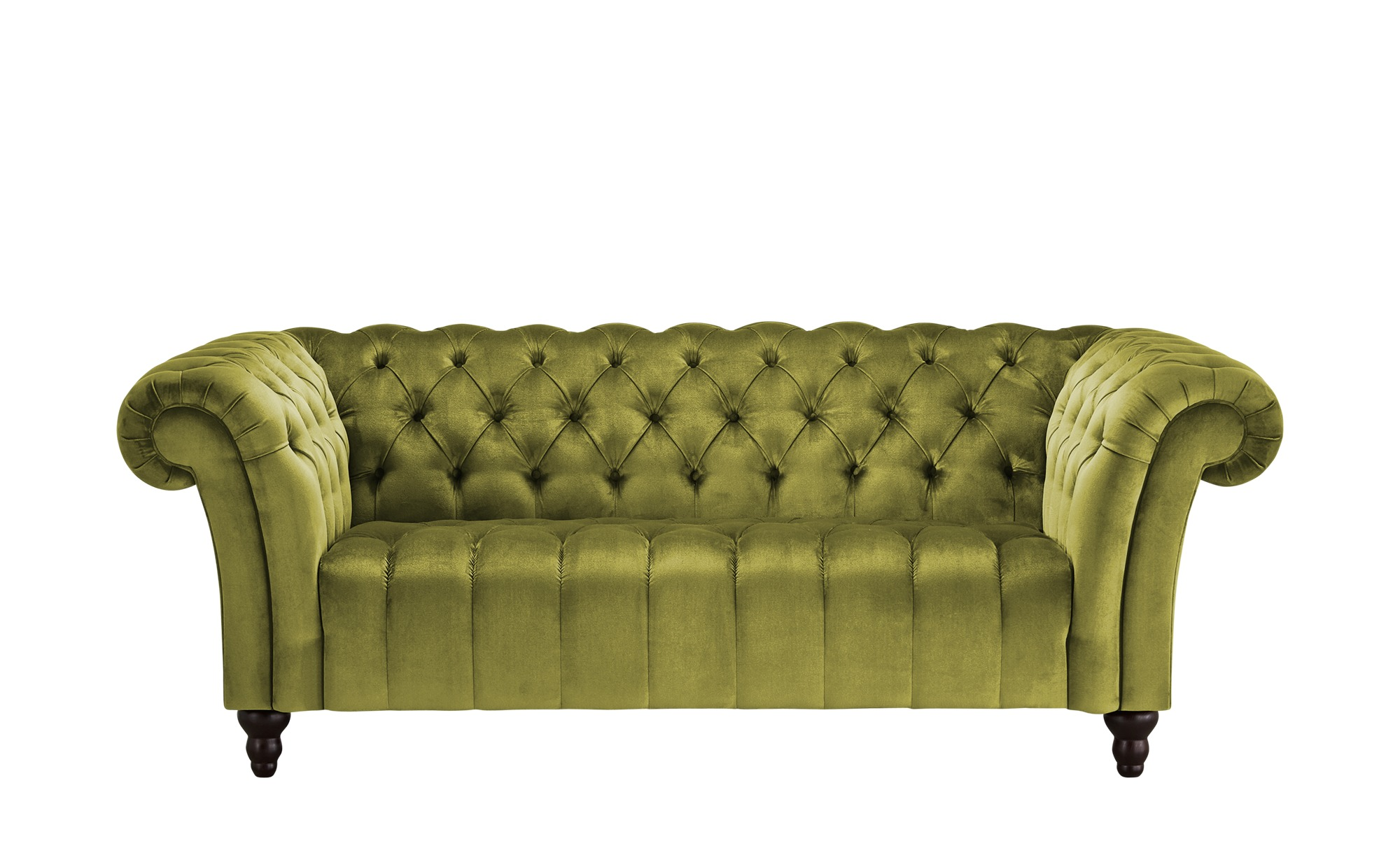 Sofa, 2-sitzig  Canyon ¦ grün ¦ Maße (cm): B: 205 H: 74 T: 101 Polstermöbel > Sofas > 2-Sitzer - Höffner
