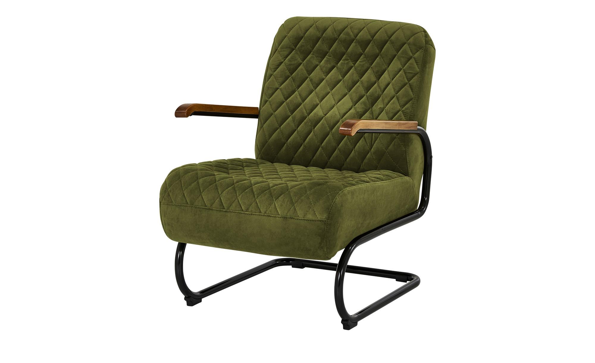 Sessel  Trudi ¦ grün ¦ Maße (cm): B: 67 H: 100 T: 83 Polstermöbel > Sessel > Polstersessel - Höffner