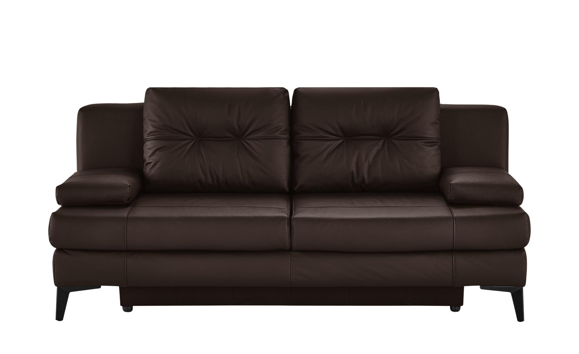 Ledersofa  Svea ¦ braun ¦ Maße (cm): B: 202 H: 92 T: 100 Polstermöbel > Sofas > 2-Sitzer - Höffner