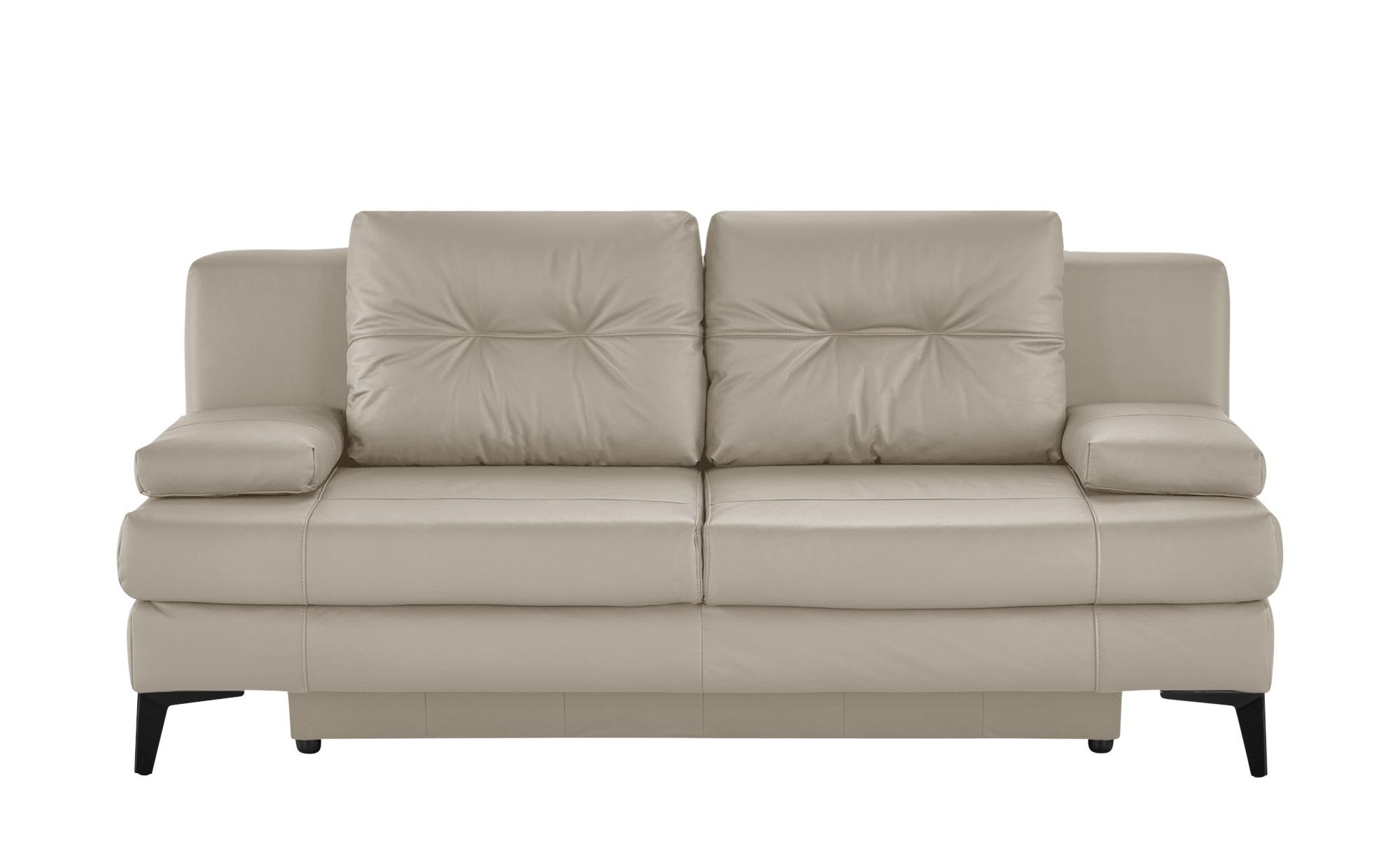 Ledersofa  Svea ¦ beige ¦ Maße (cm): B: 202 H: 92 T: 100 Polstermöbel > Sofas > 2-Sitzer - Höffner