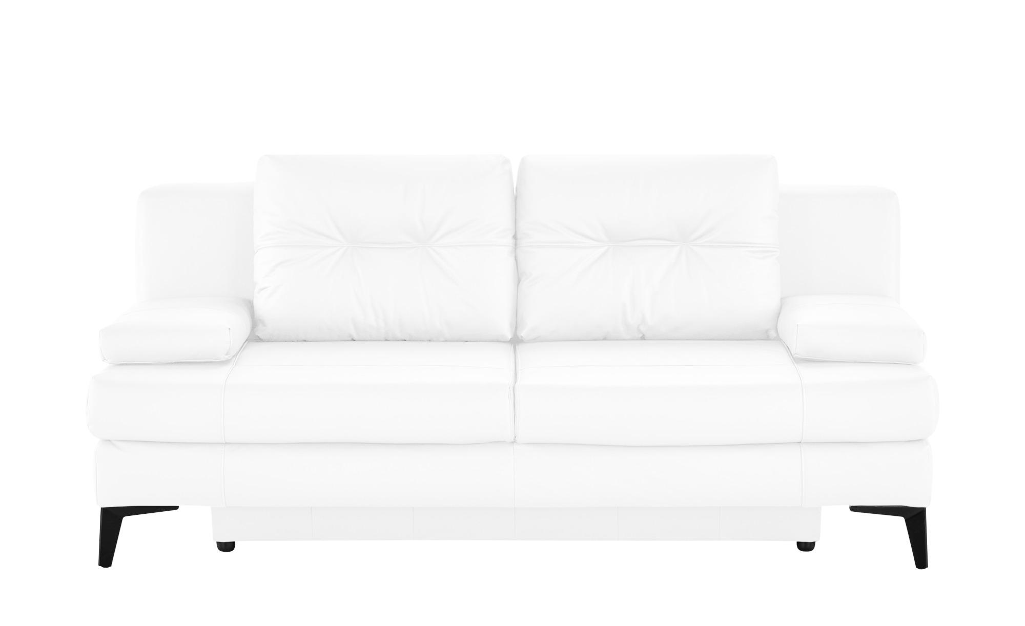Ledersofa  Svea ¦ weiß ¦ Maße (cm): B: 202 H: 92 T: 100 Polstermöbel > Sofas > 2-Sitzer - Höffner