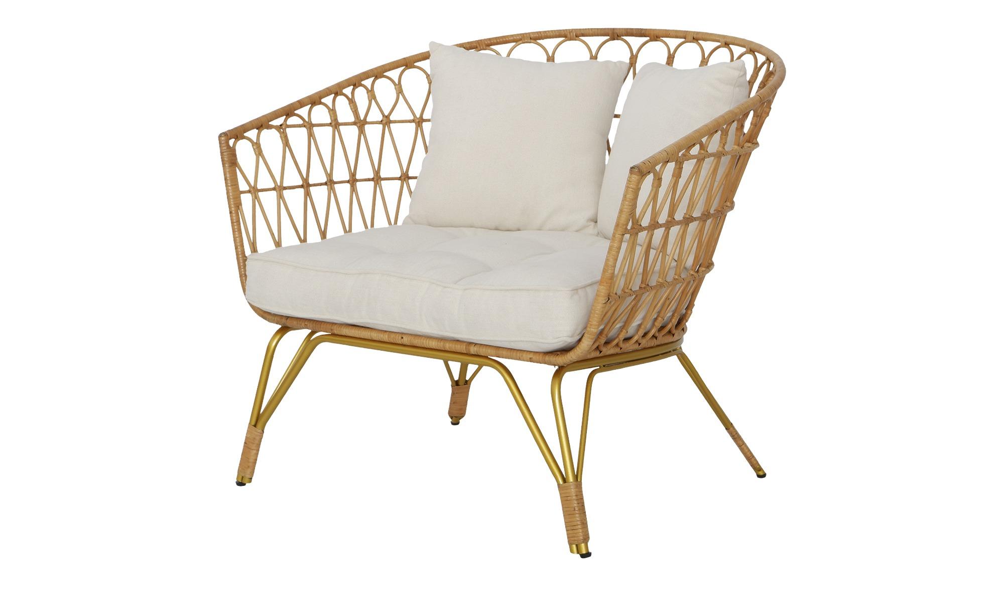 Cocktailsessel aus Rattan mit komfortabler Sitzfläche