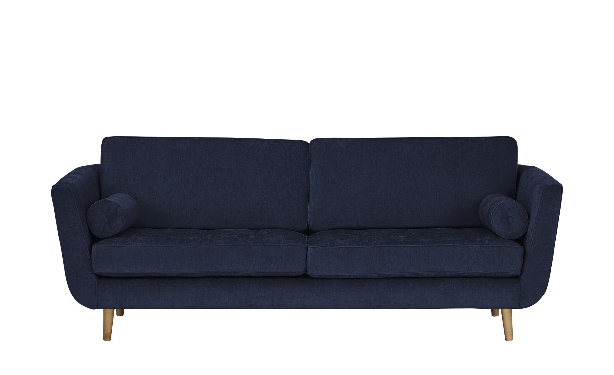 SOHO Sofa 3-sitzig  Zehra ¦ blau ¦ Maße (cm): B: 226 H: 85 T: 96 Polstermöbel > Sofas > 3-Sitzer - Höffner