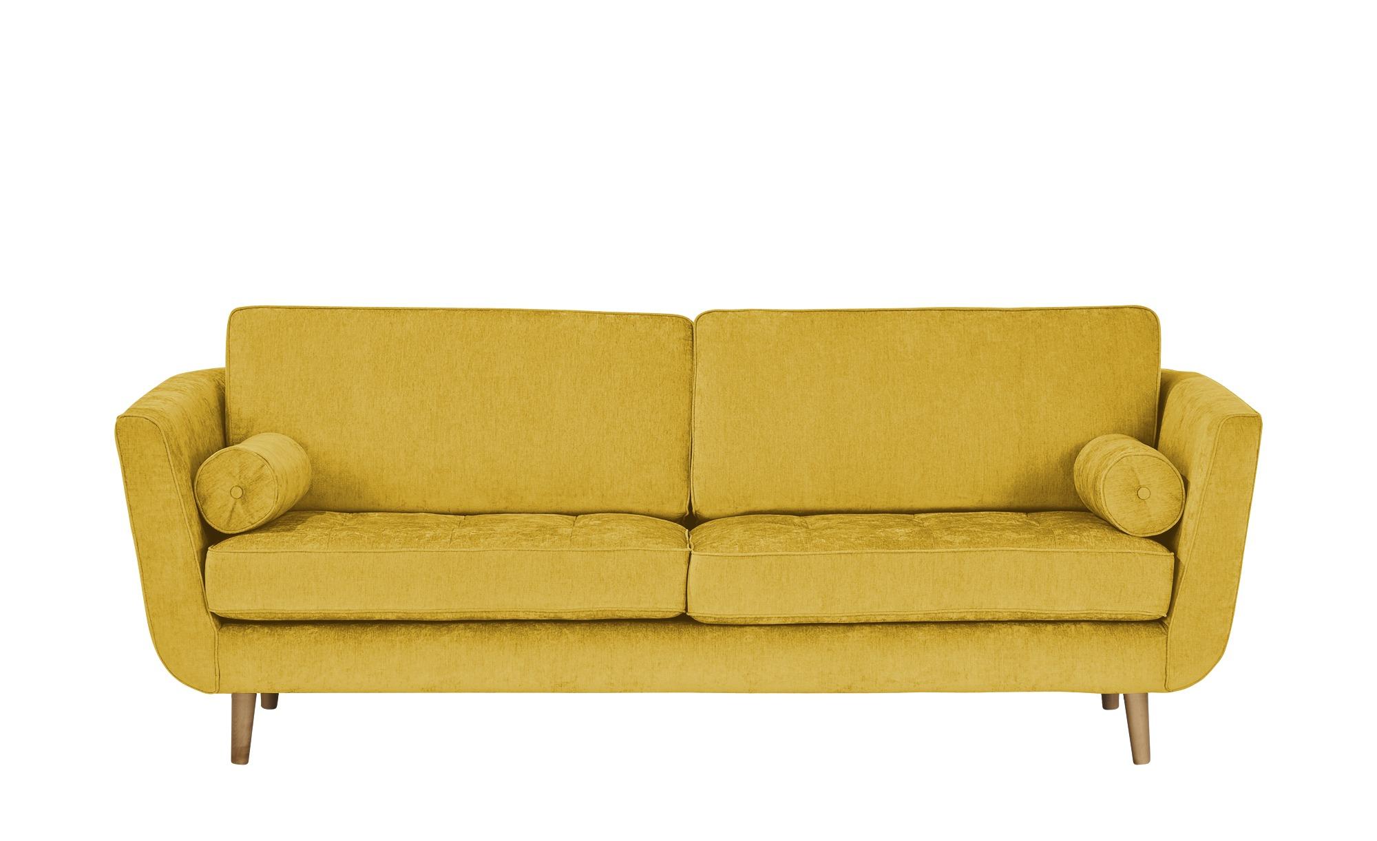 SOHO Sofa 3-sitzig  Zehra ¦ gelb ¦ Maße (cm): B: 226 H: 85 T: 96 Polstermöbel > Sofas > 3-Sitzer - Höffner