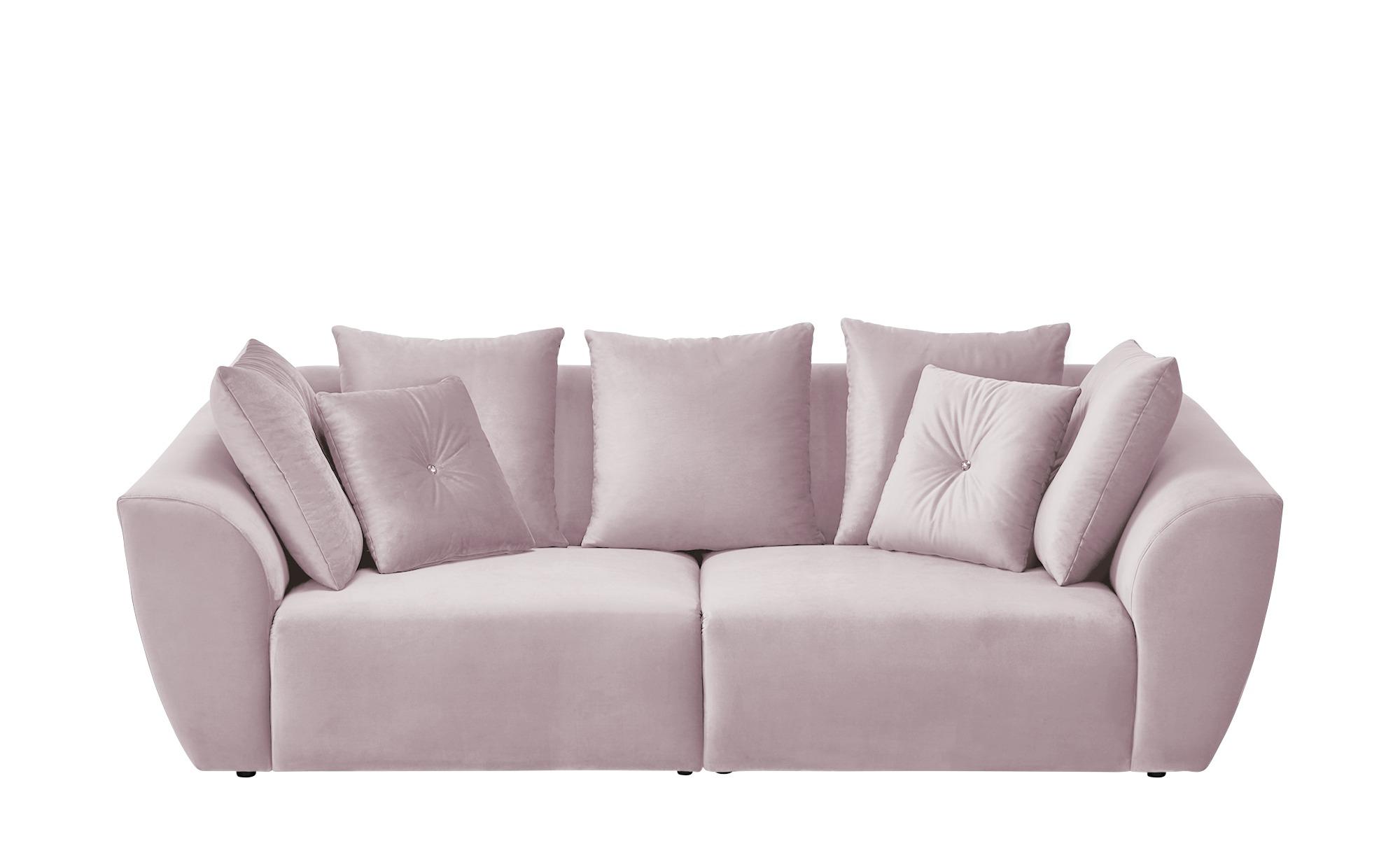 smart Big Sofa  Krista ¦ rosa/pink ¦ Maße (cm): B: 255 H: 85 T: 125 Polstermöbel > Sofas > Big-Sofas - Höffner