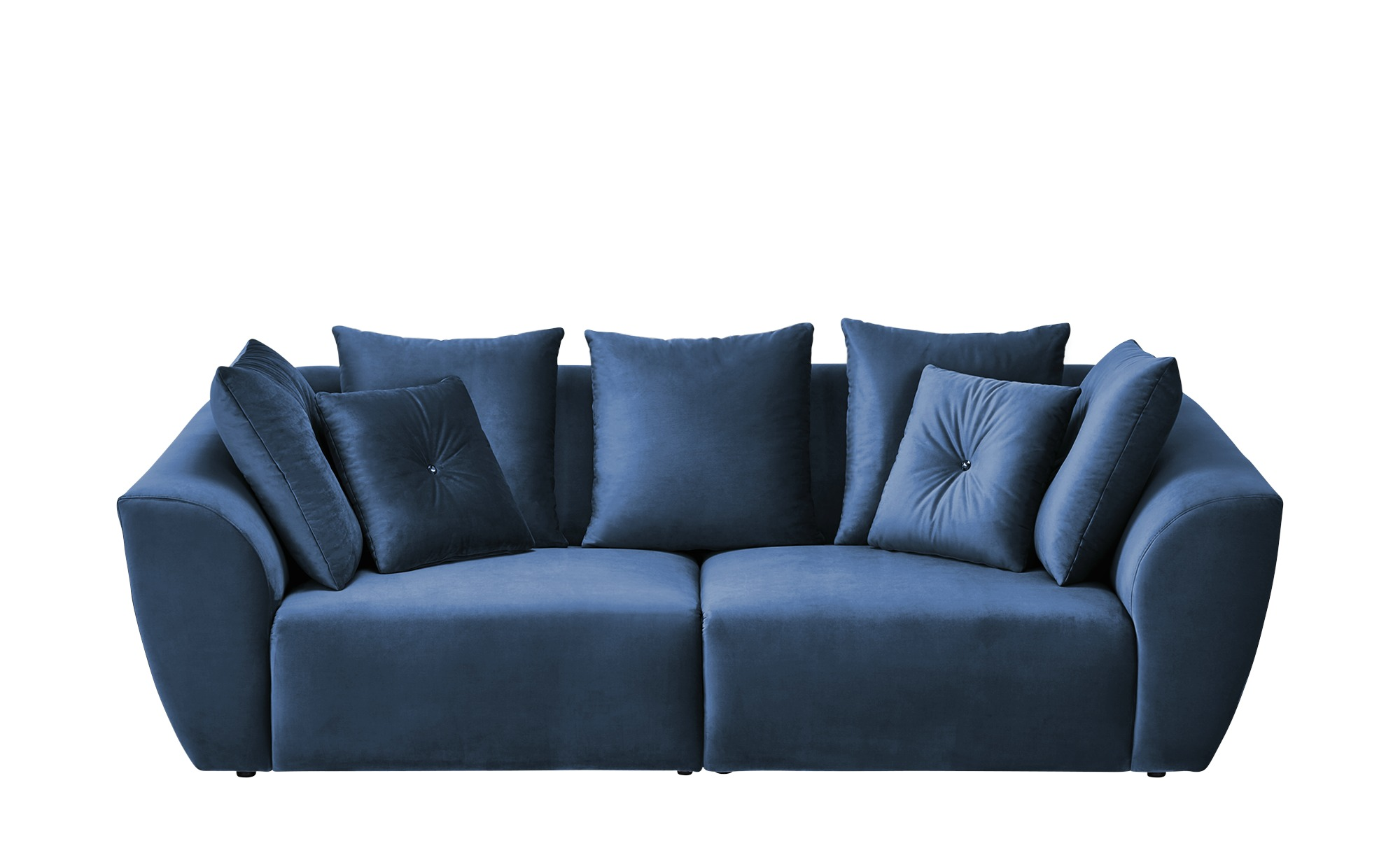 smart Big Sofa  Krista ¦ blau ¦ Maße (cm): B: 255 H: 85 T: 125 Polstermöbel > Sofas > Big-Sofas - Höffner
