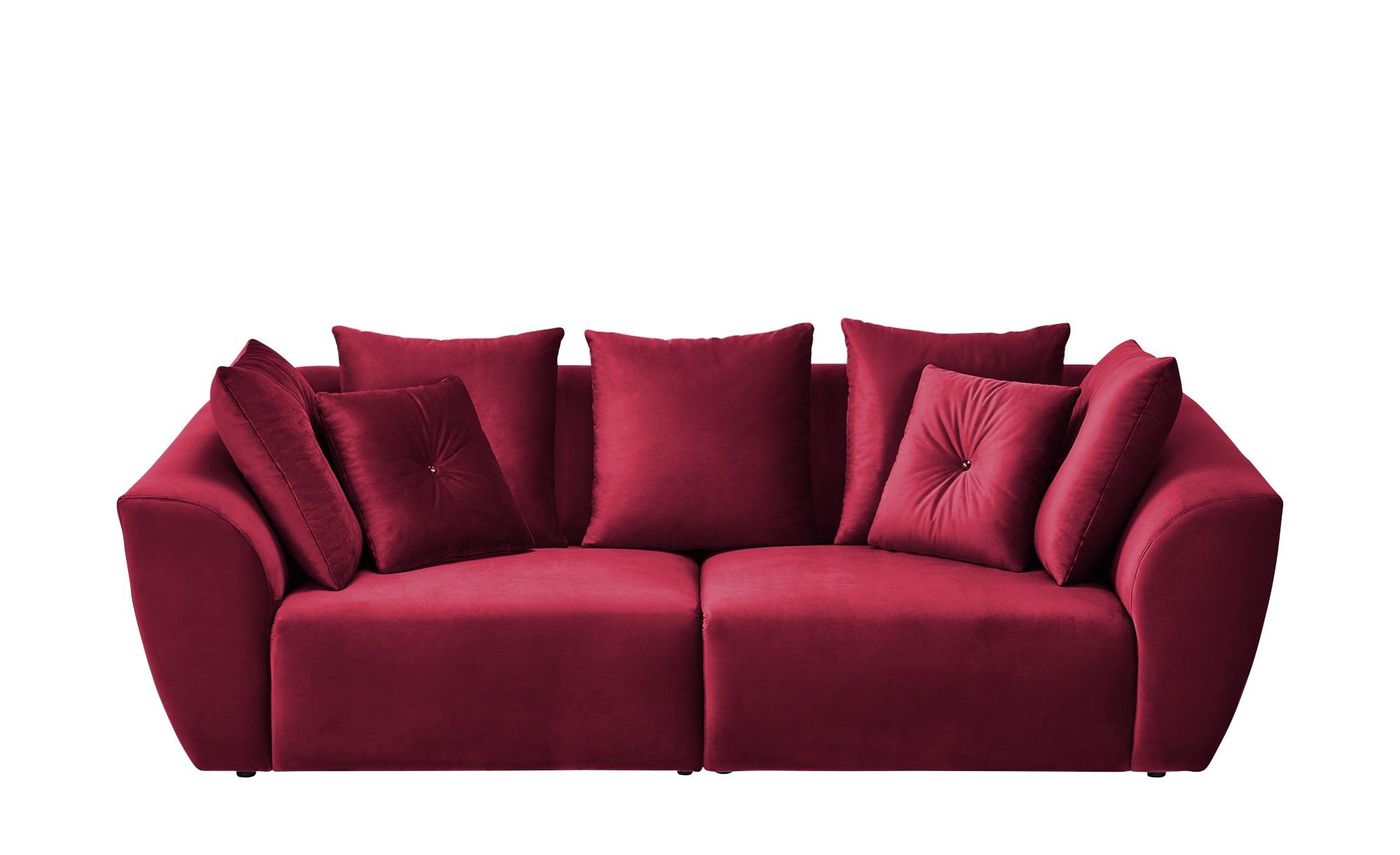 smart Big Sofa  Krista ¦ rot ¦ Maße (cm): B: 254 H: 92 T: 113 Polstermöbel > Sofas > Big-Sofas - Höffner